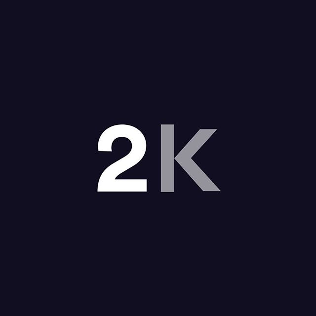 Woke up today with over 2000 followers, which is awesome!✌🏼 I'd like to thank you all for all the support, feedback, criticism, etc as well as helping me improve and grow as a designer - You guys are amazing! Looking forward to what the future holds❤️