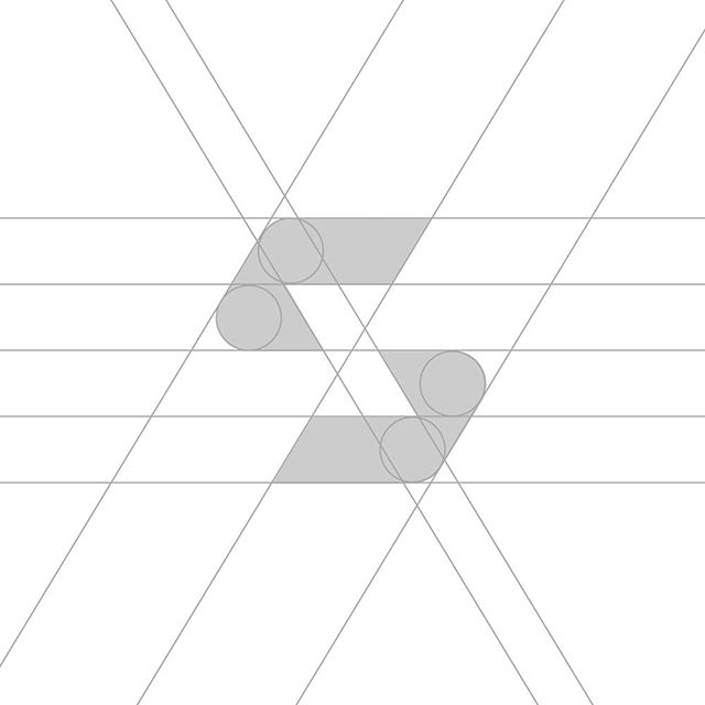 S logo mark grid ✍🏼