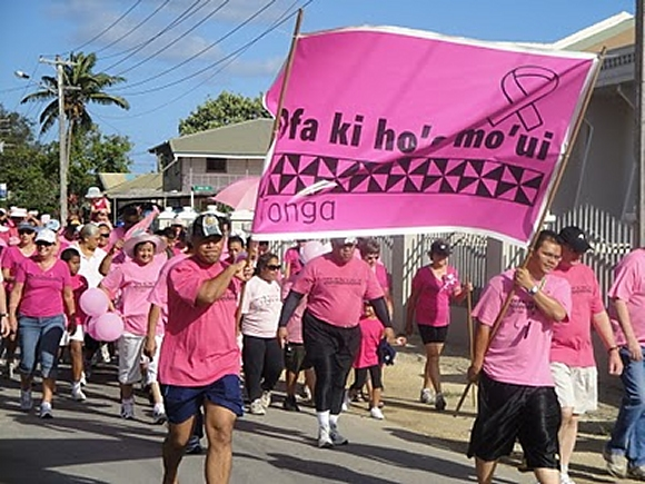 tonga rally for breast cancer