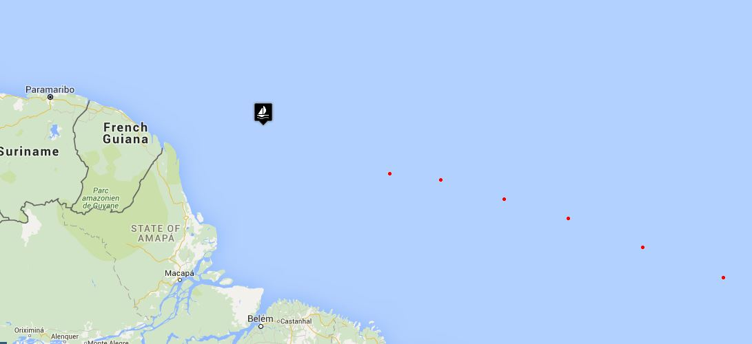 Right now David and Marcie are further north than this post reflects. They're close!