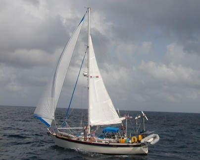 Nine of Cups, our Liberty 458 cutter-rigged sailboat