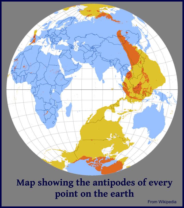 sketch of antipodal globe