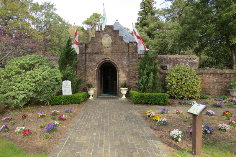 It was too early in the season to be able to appreciate the Elizabethan Gardens, but the entrance was appealing.