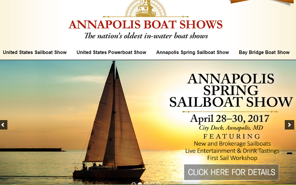 Boat shows like   this one in Annapolis   are great ways to learn more about what boats are available and their features. Many times they offer informative seminars for new and old sailors alike.
