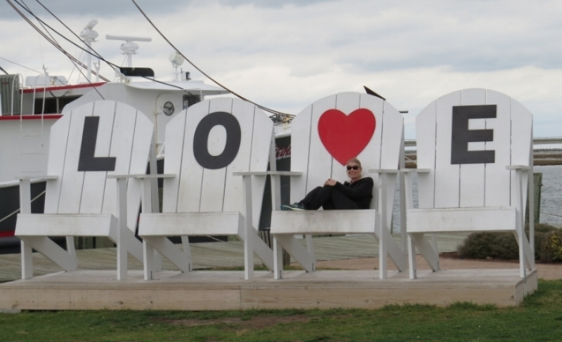 LOVE chairs on the boardwalk
