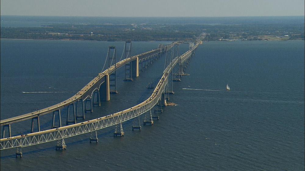 The Chesapeake Bay Bridge Tunnel is pretty impressive.