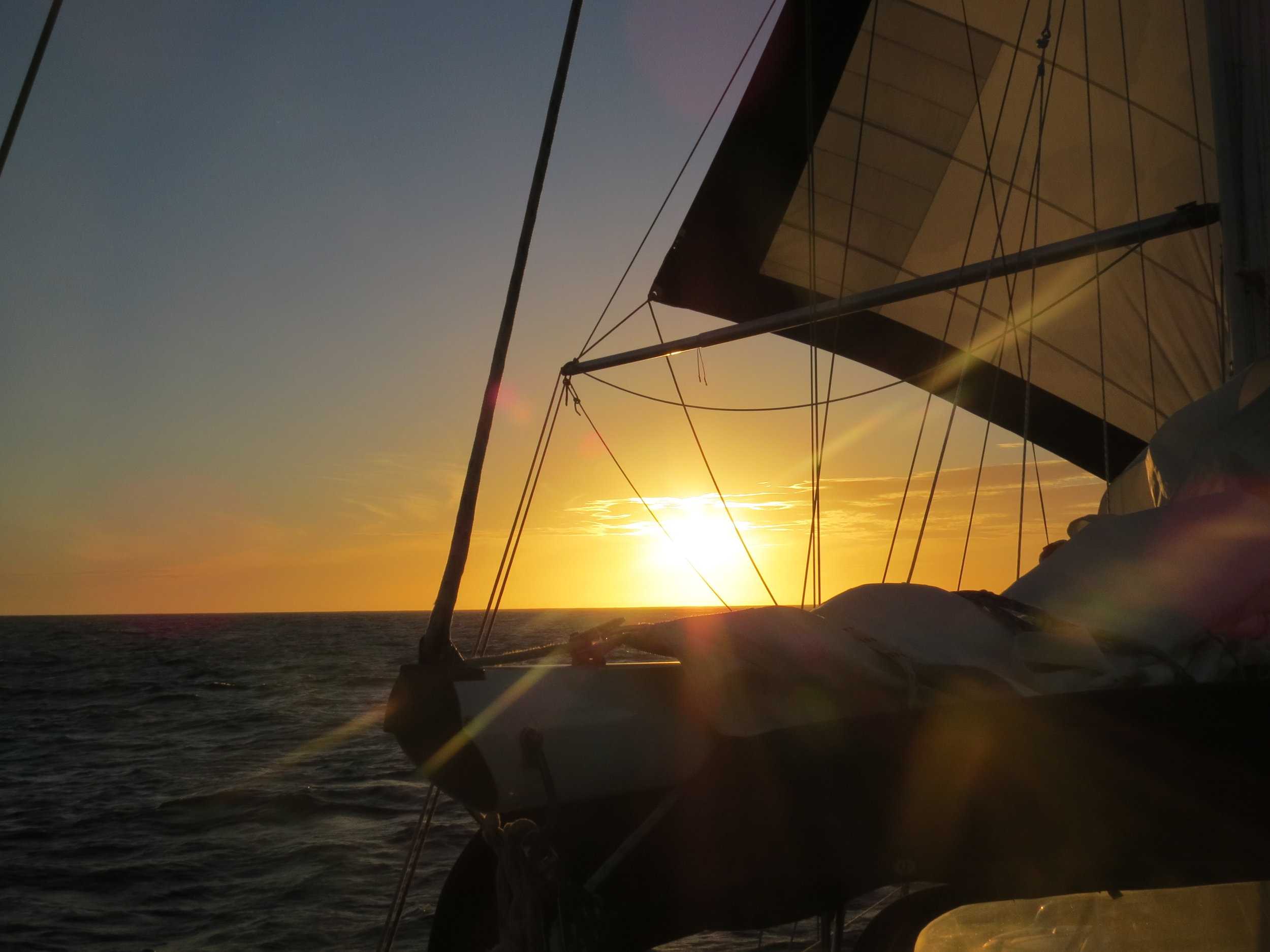 Getting ready to sail off into the sunset ... but first, give Nine of Cups her new name