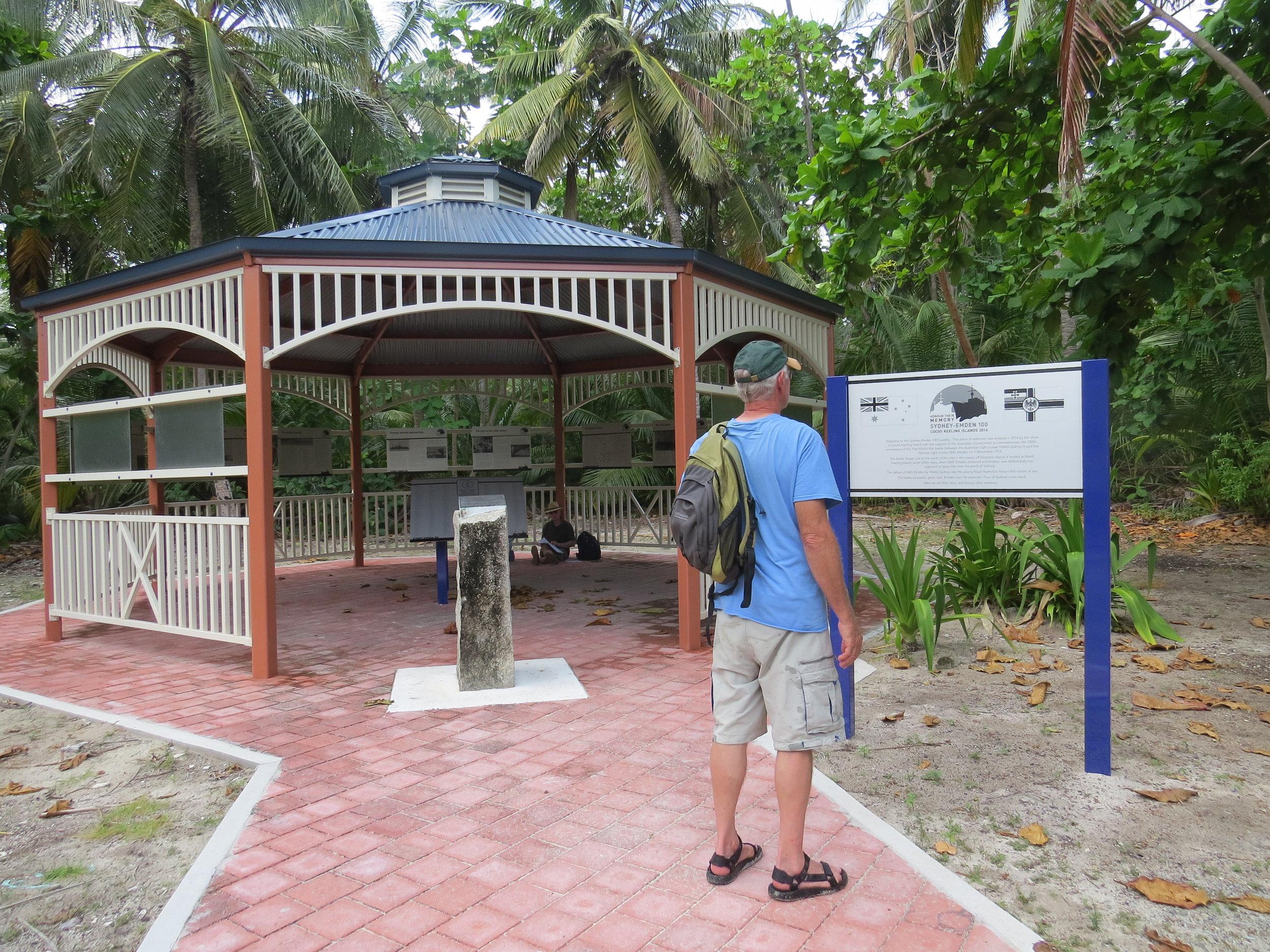 Gazebo memorial on Heritage Trail