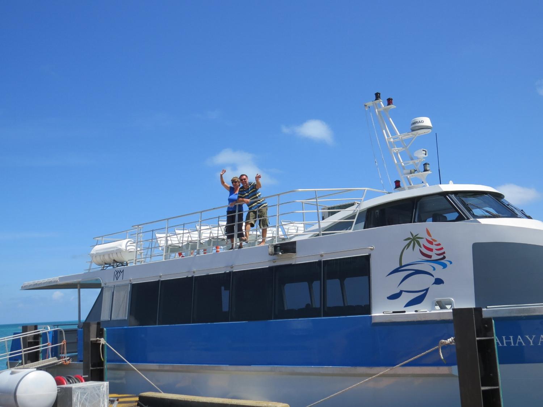 German friends on West Island ferry
