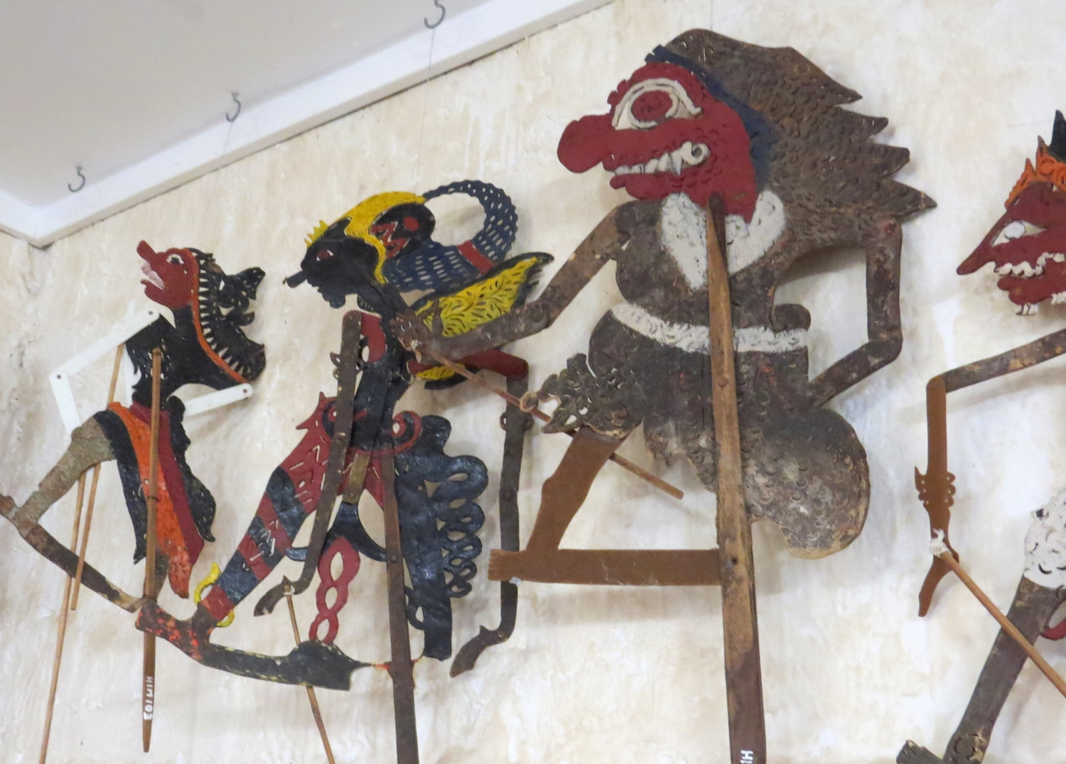 Cocos-Malay traditional shadow puppets