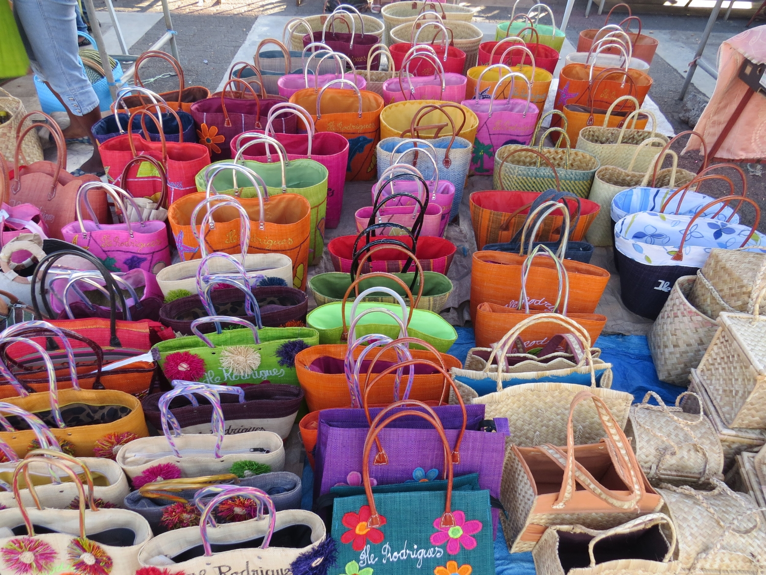 Colorful Rodrigues baskets