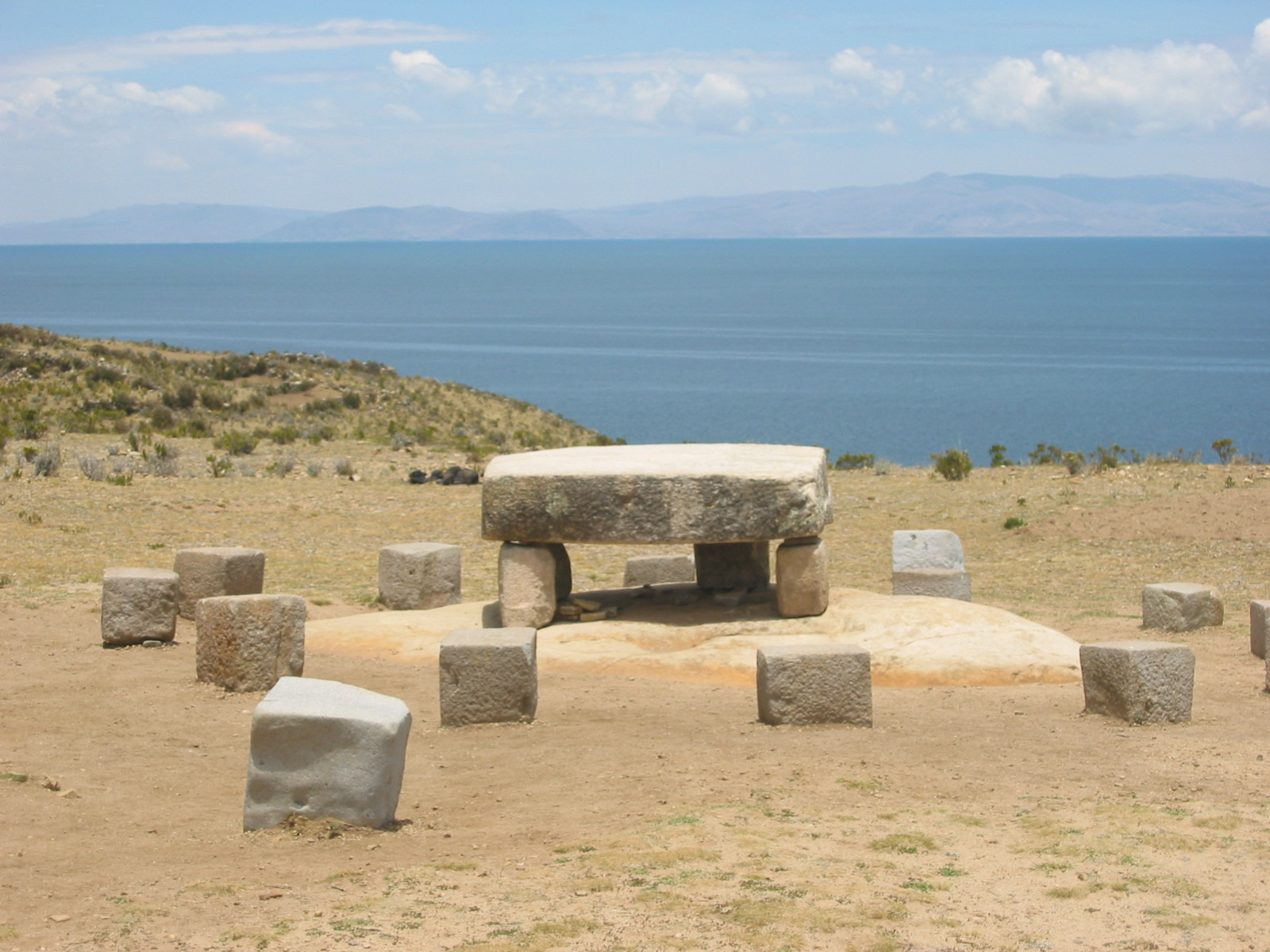 Stone altars are still used today for sacrifice.