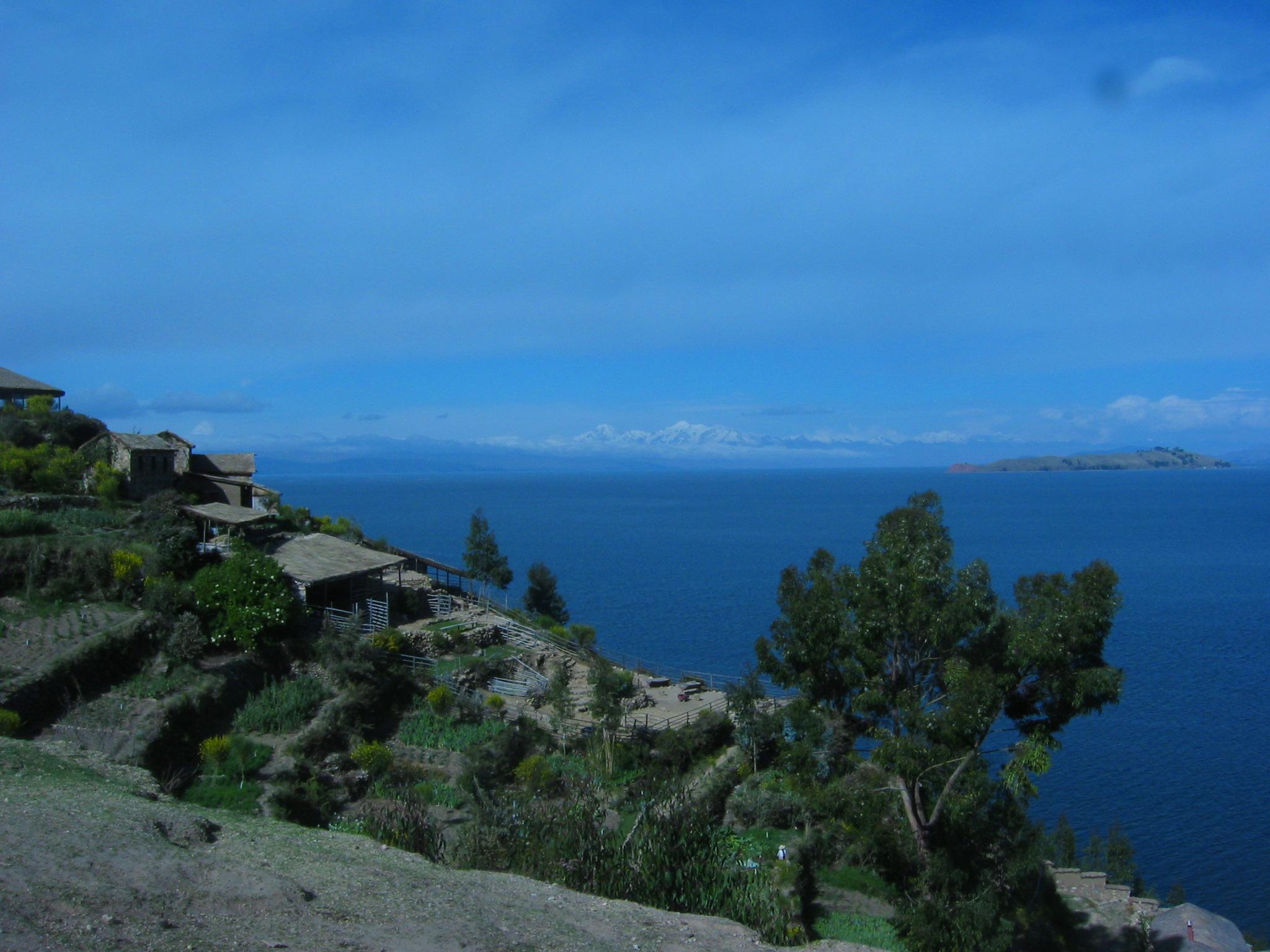 Blue, blue lake view