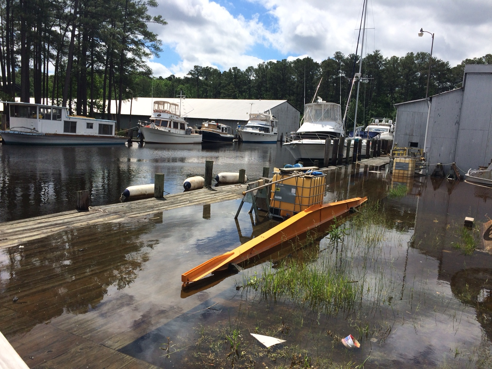 Getting to the boat was a challenge and unloading was out of the question.