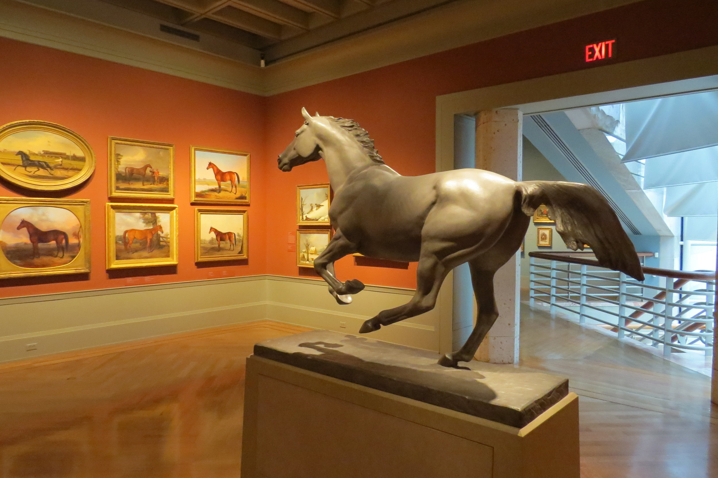 Interesting horse sculpture & paintings
