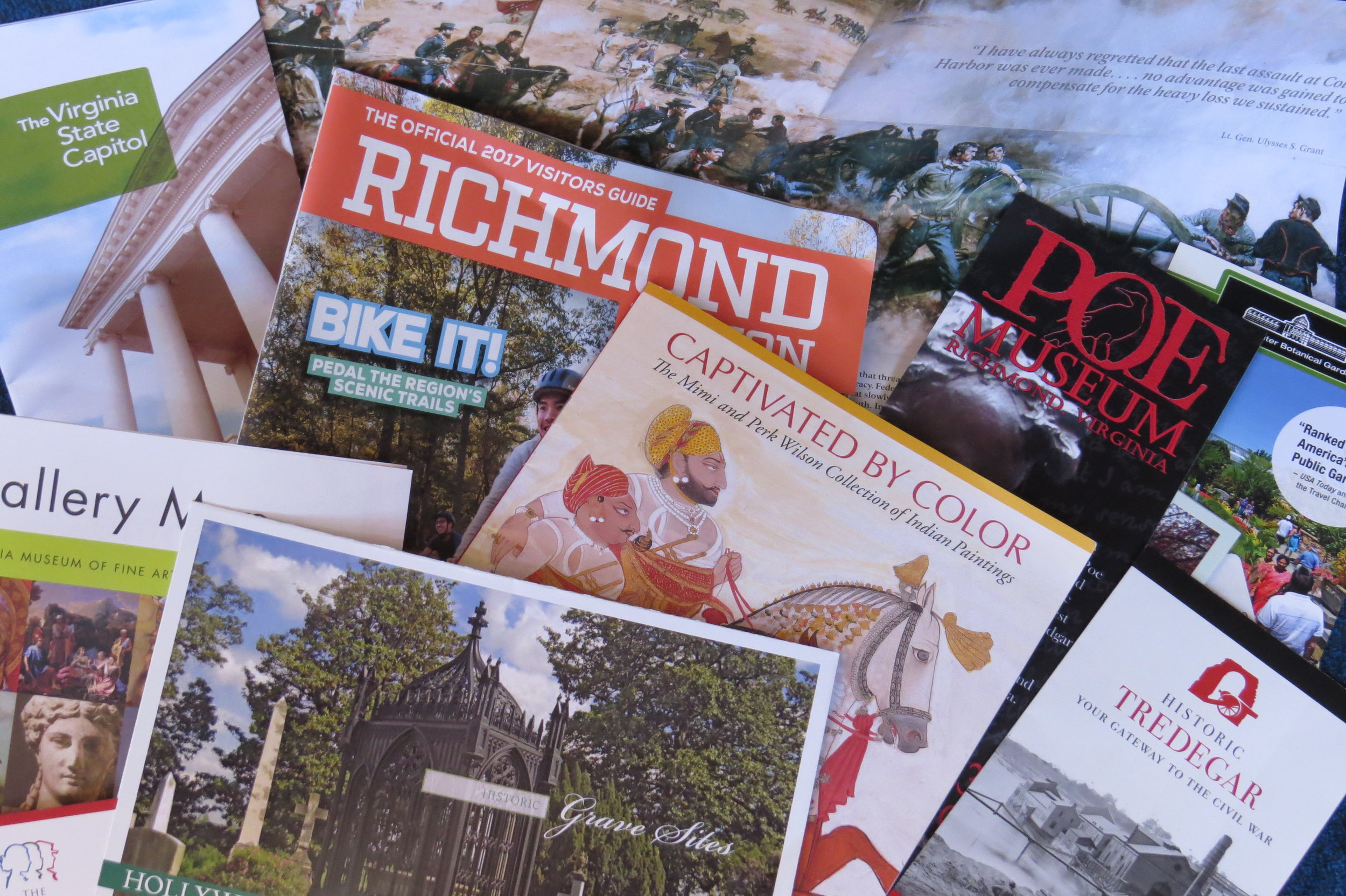 A bouquet of Richmond brochures