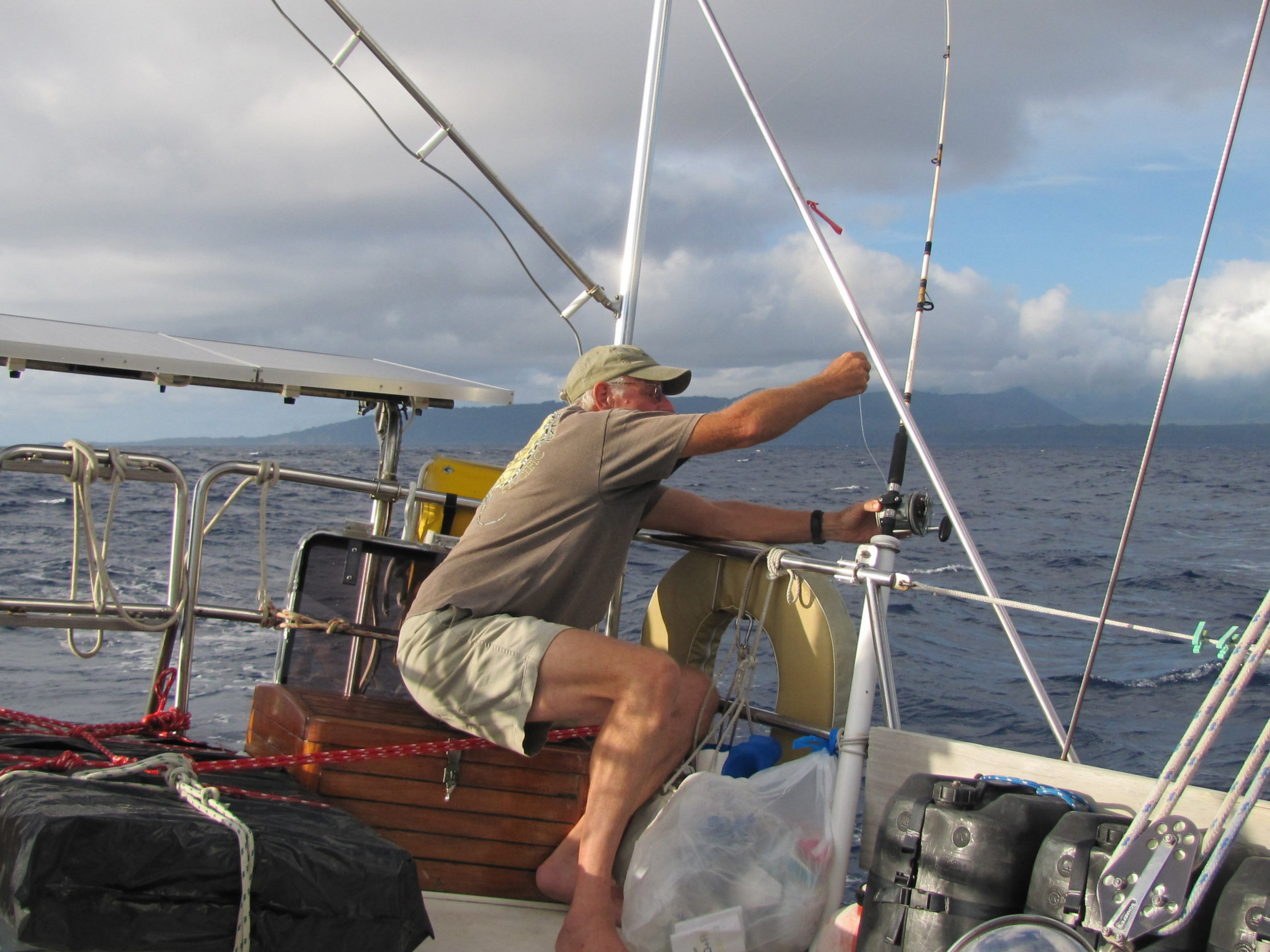 Letting out more line ... Erromango, Vanuatu