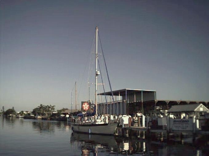 Nine of Cups docked in St. Pete