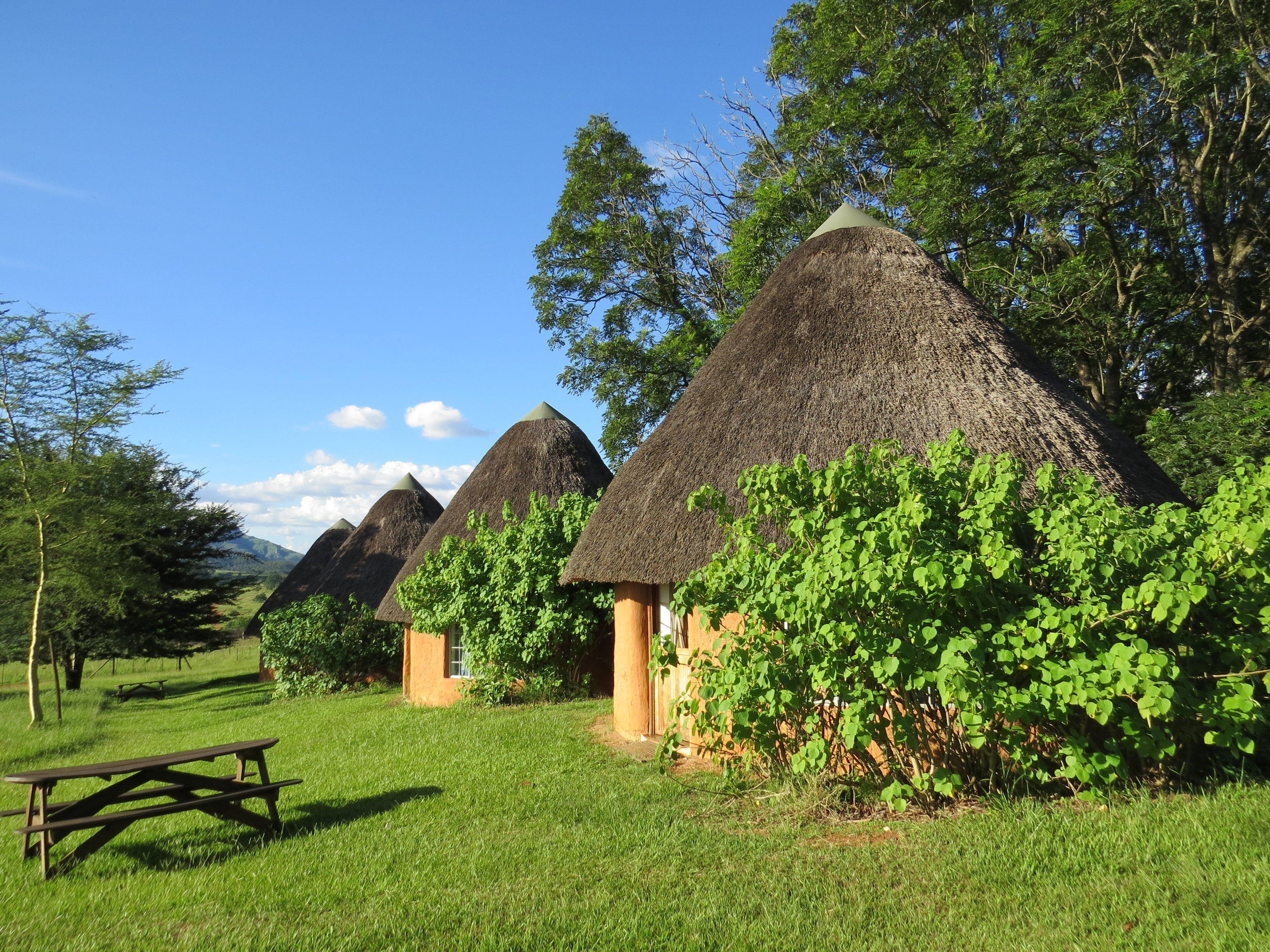 Our thatched hut was awesome!