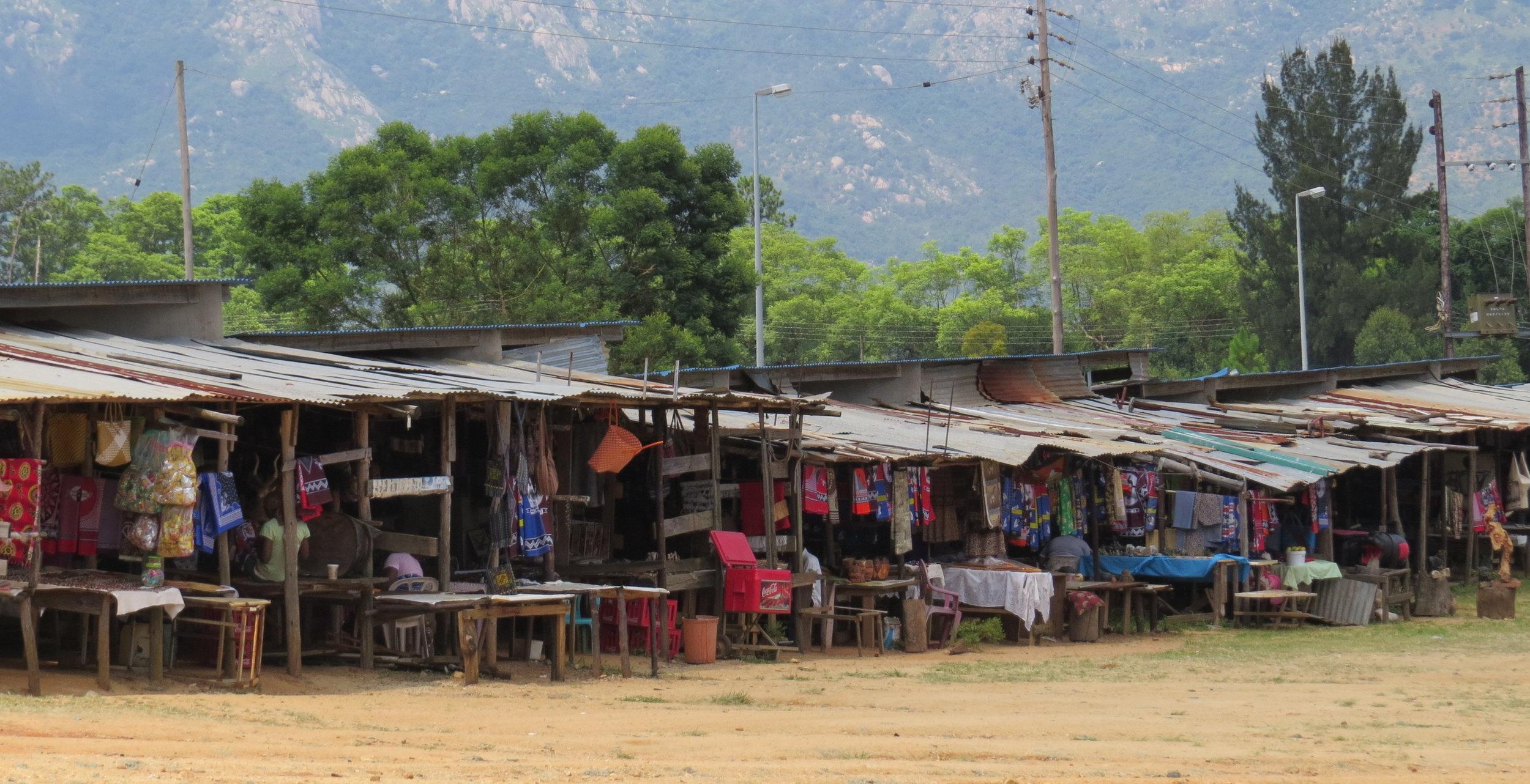 Roadside crafts market