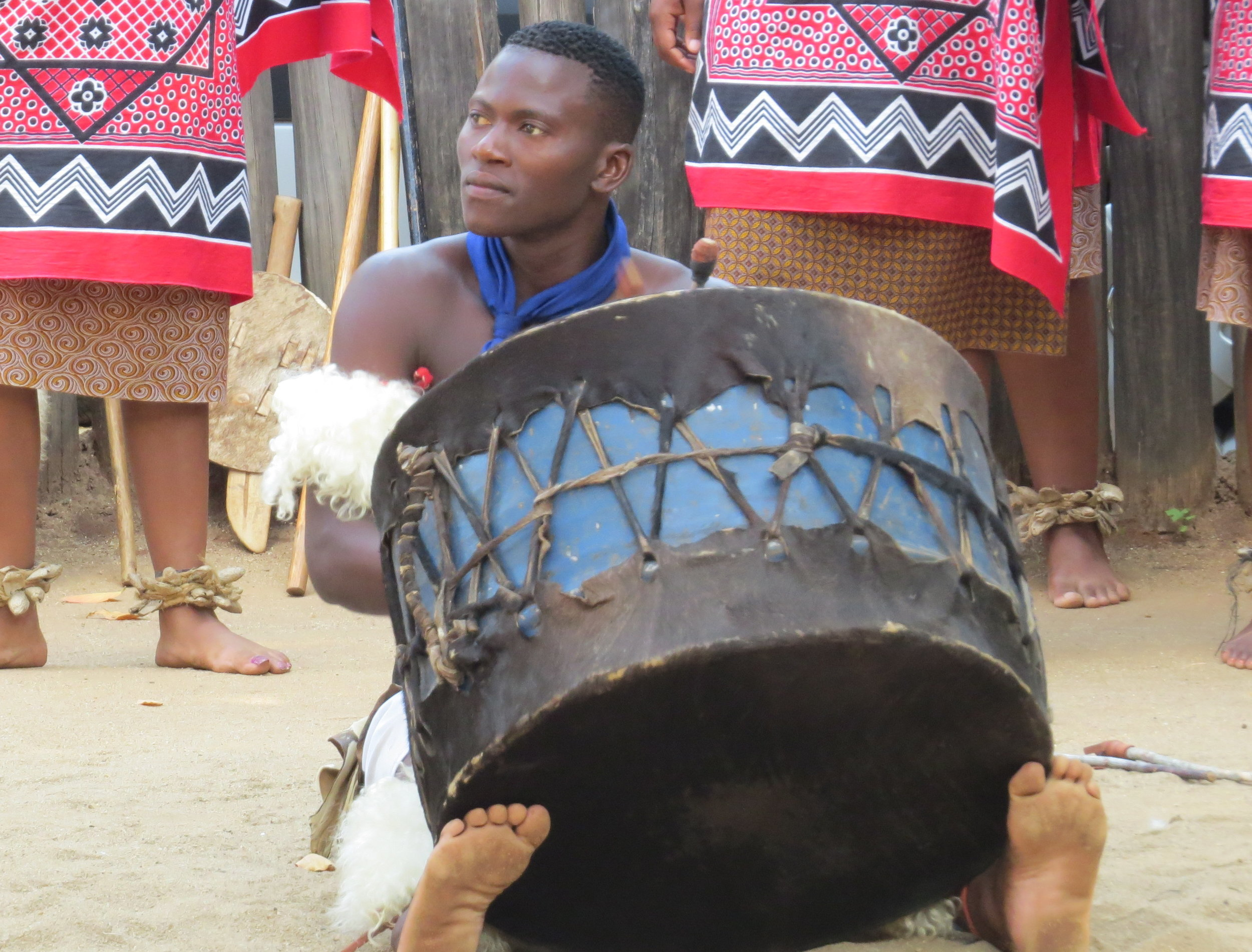 Swazi drummer kept the beat