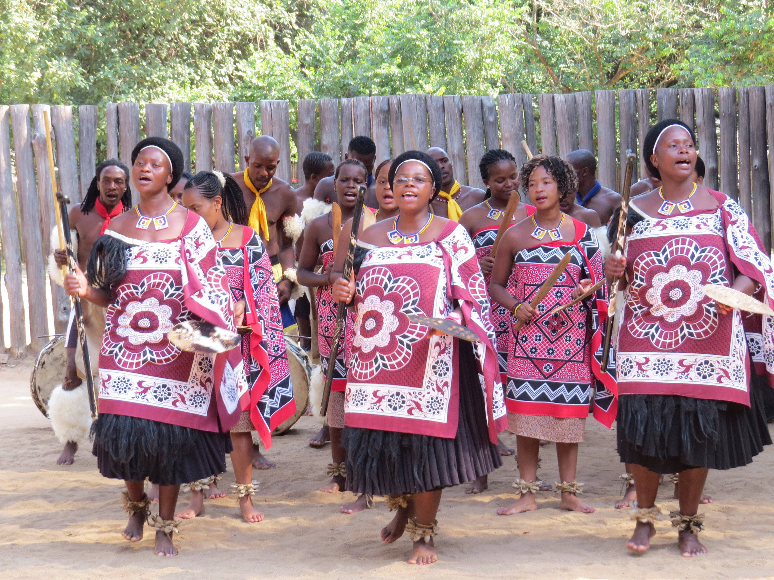 Women danced and sang