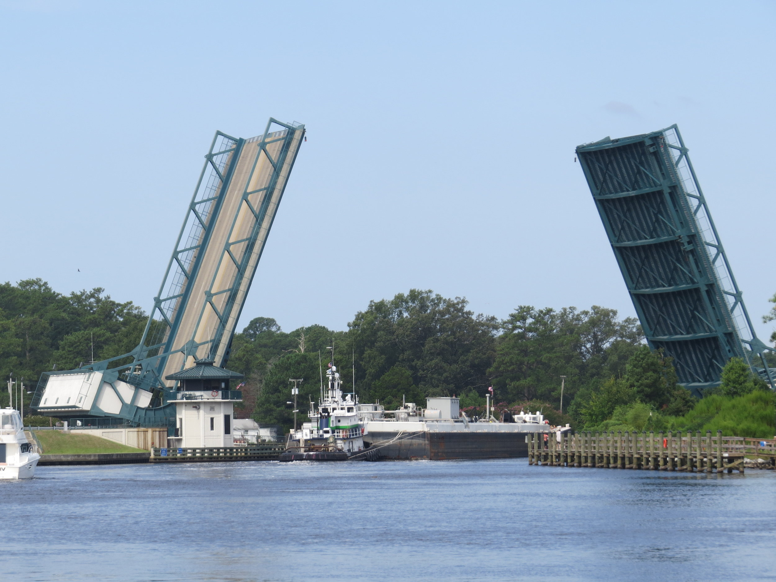 After a recent lightning hit, the Great Bridge Bridge only opens twice a day while repairs are still being made.