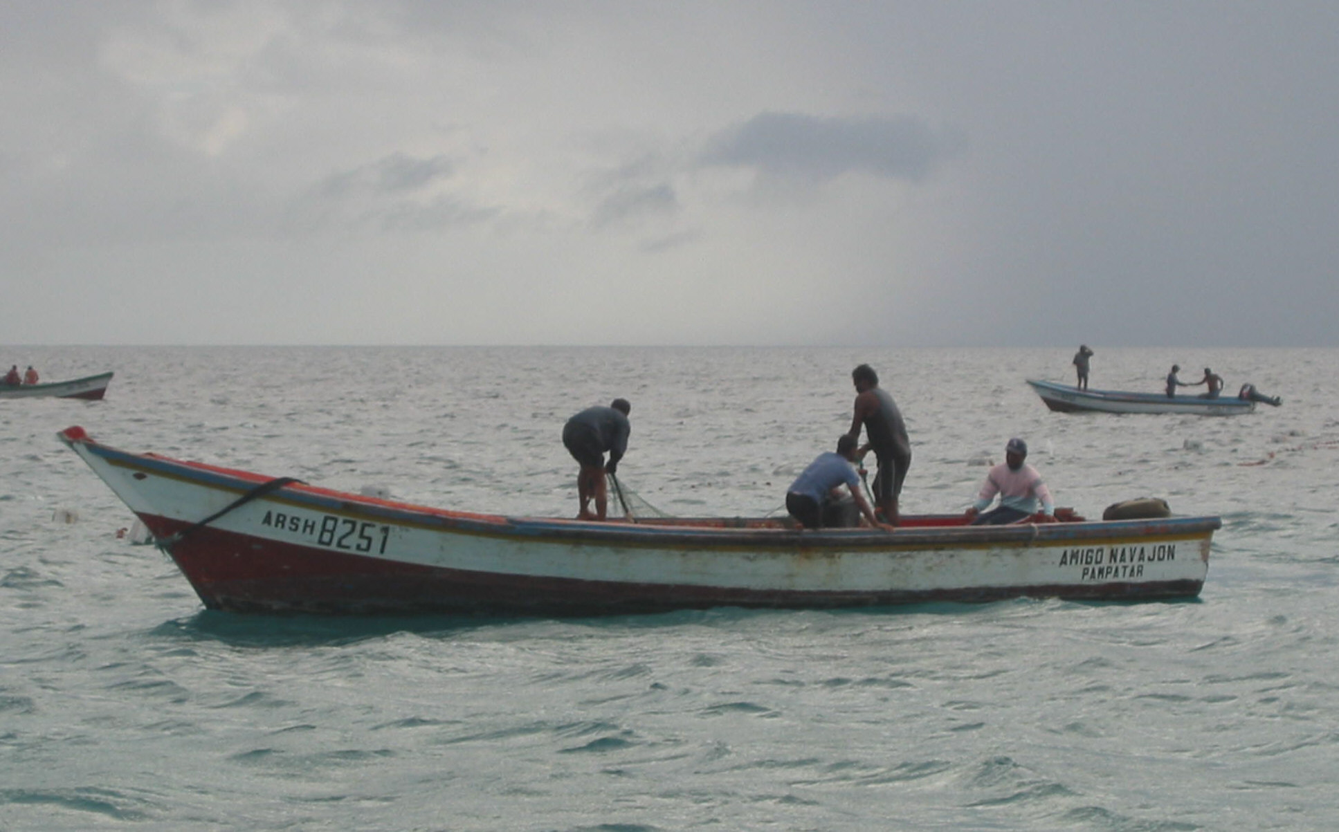 Fishermen traded fish & lobster for battery charges
