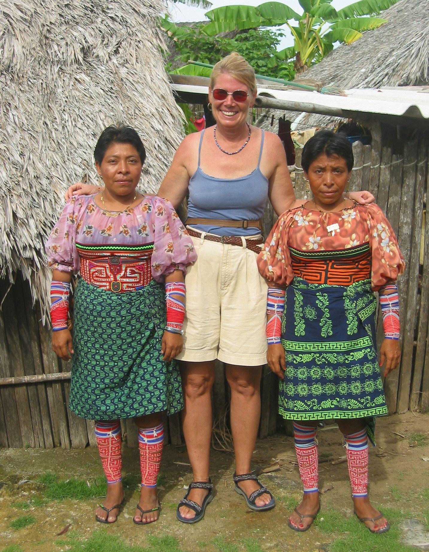 Kuna women do not smile for photos!