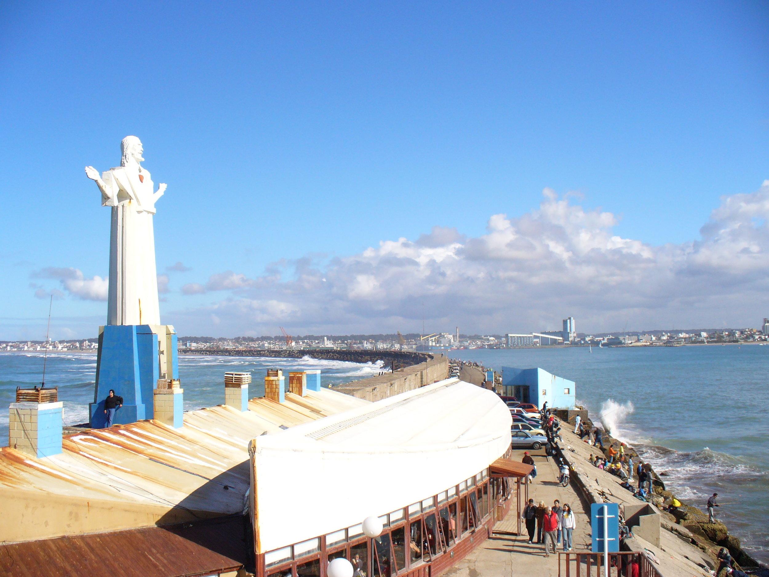 Big Jesus gave us a warm welcome to Mar del Plata, Argentina.