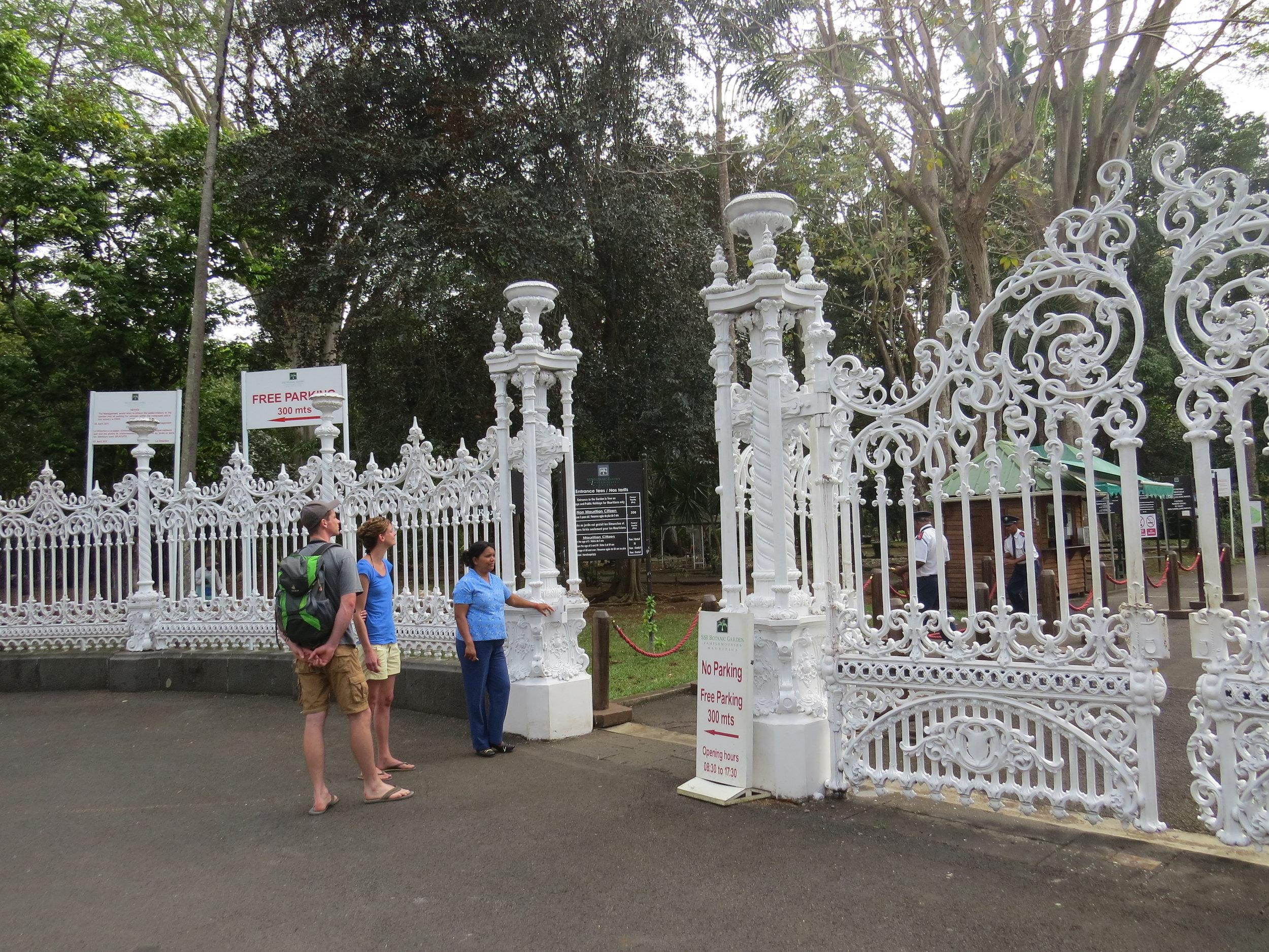Ornate entrance gate to the Botanic Gardens