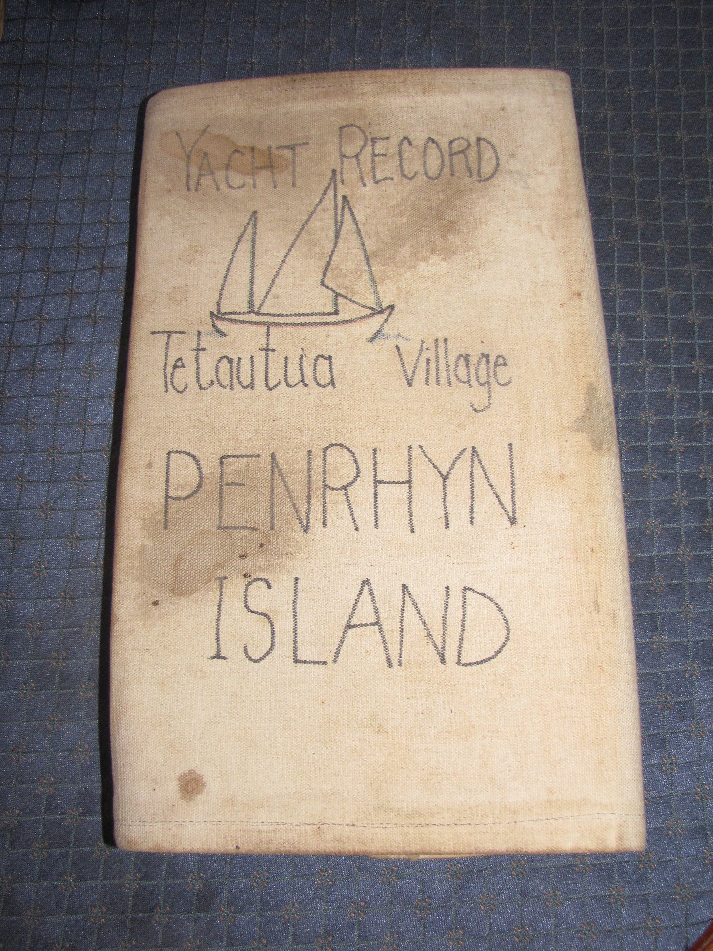 Yacht Record left by John Neal in 1987.