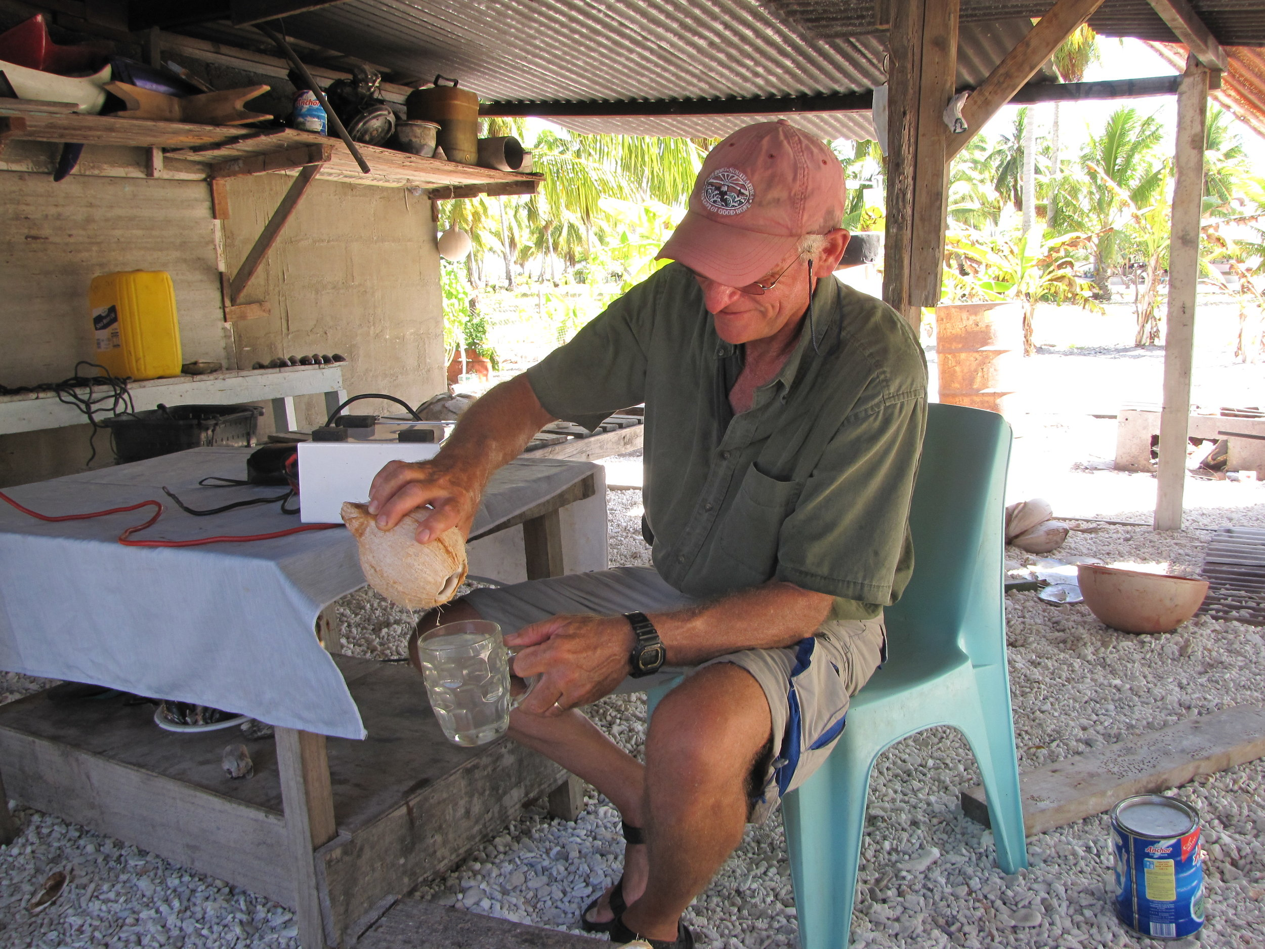 Coconut water from the source.