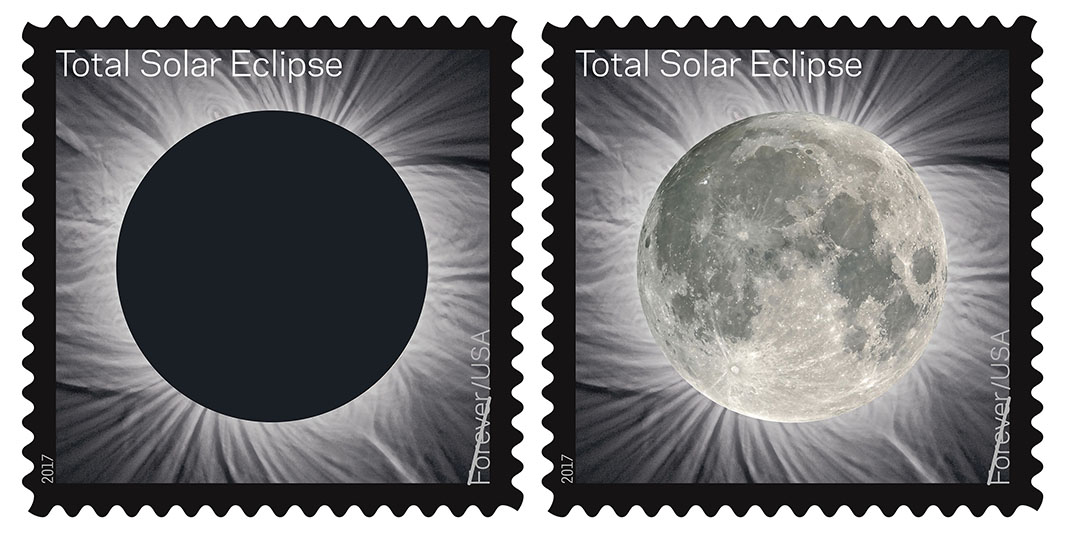 The USPS has even issued special total eclipse stamps ... don't worry, they're forever stamps.