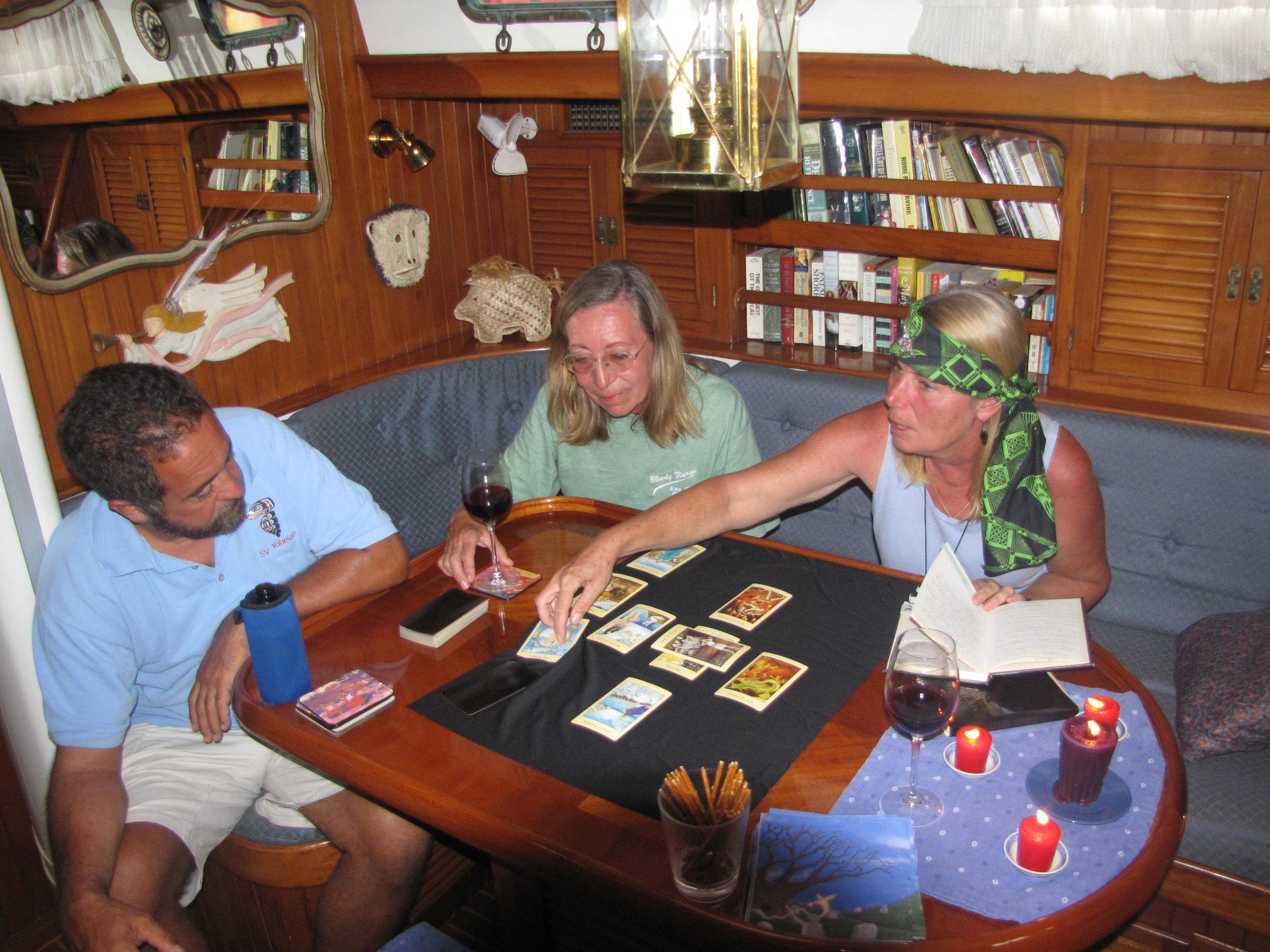Tarot readings aboard Nine of Cups