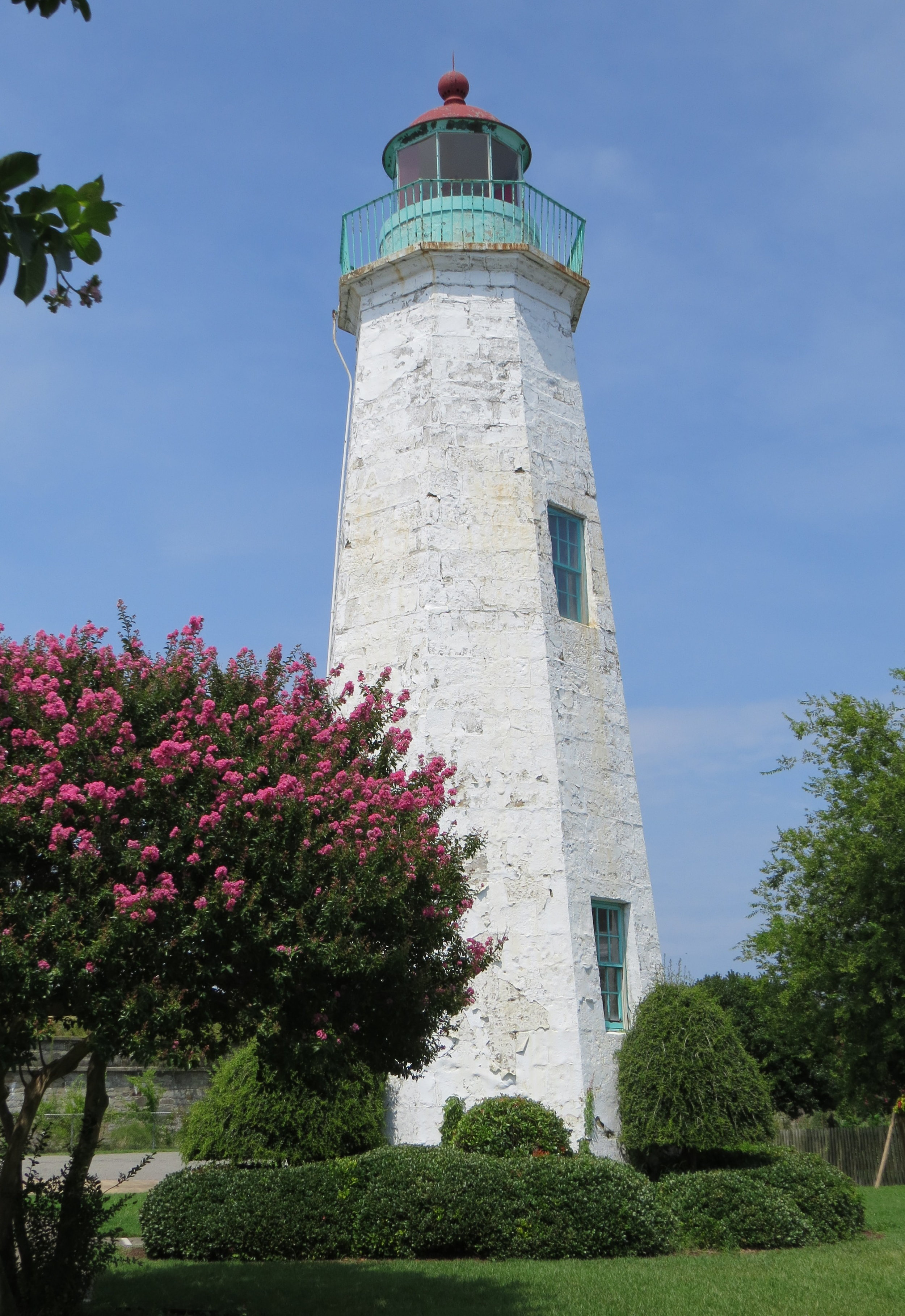 Old Point Comfort Light is the oldest operating lighthouse in Chesapeake Bay.