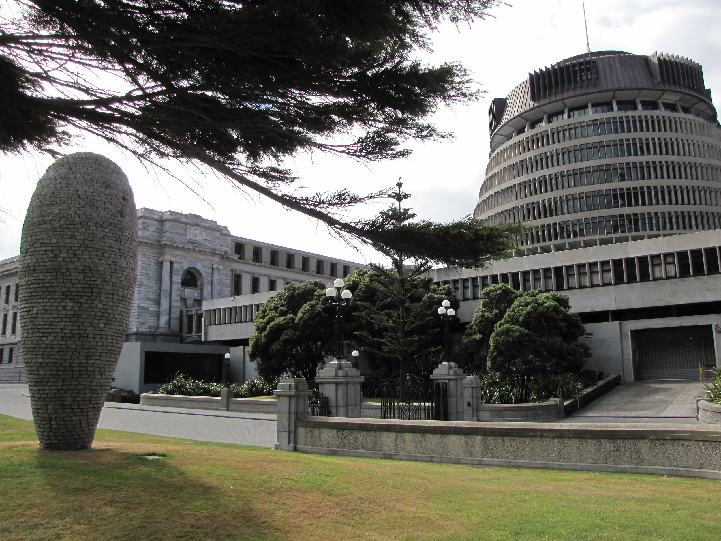 The Beehive ... New Zealand's Parliament building.