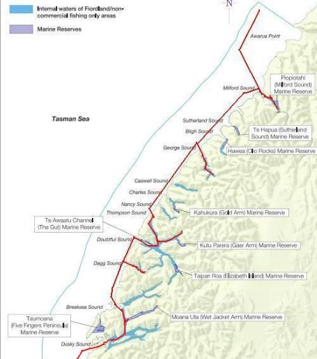 Our Fiordland route