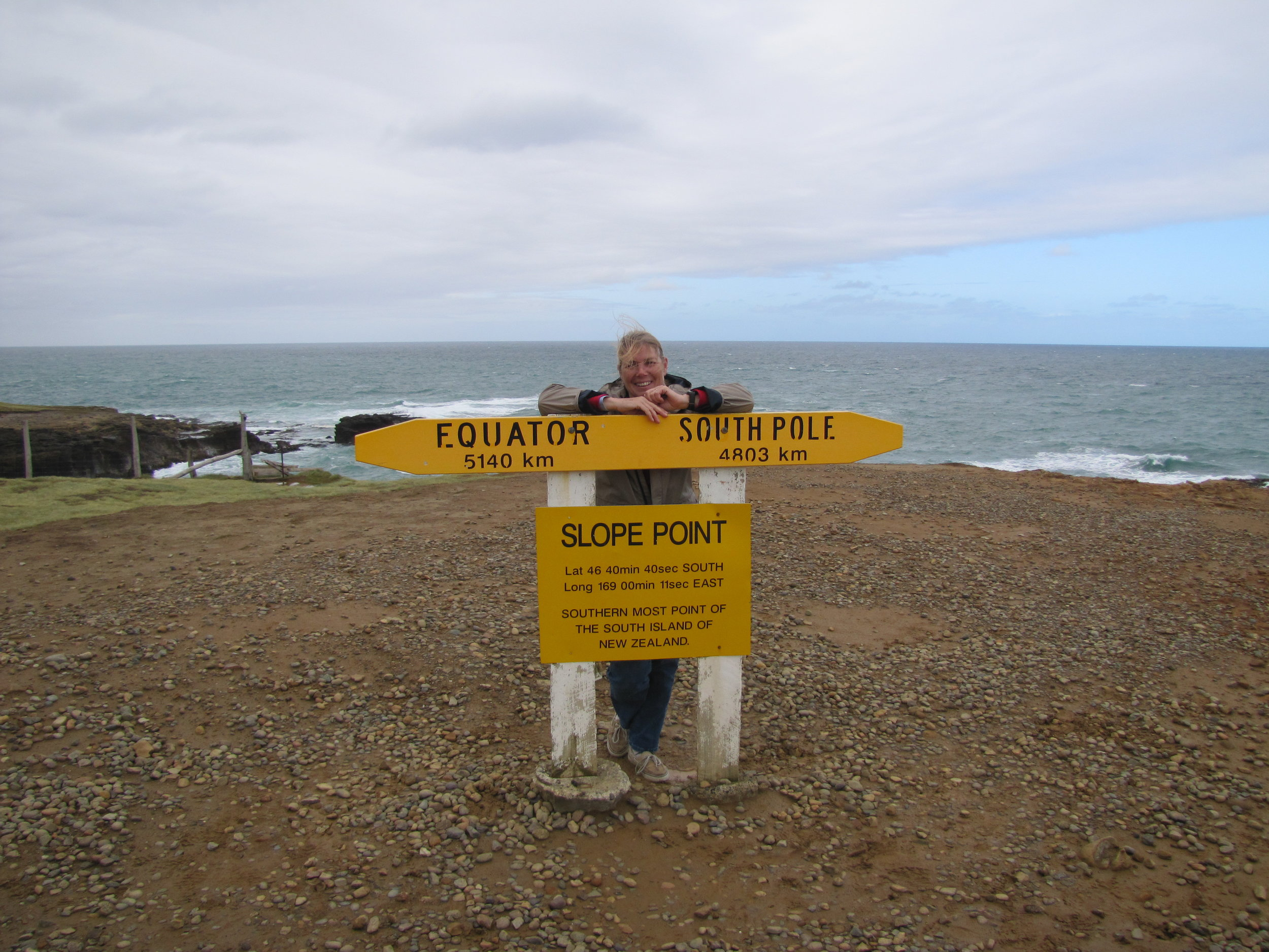 Slope Point - Most southern point on NZ's South Island