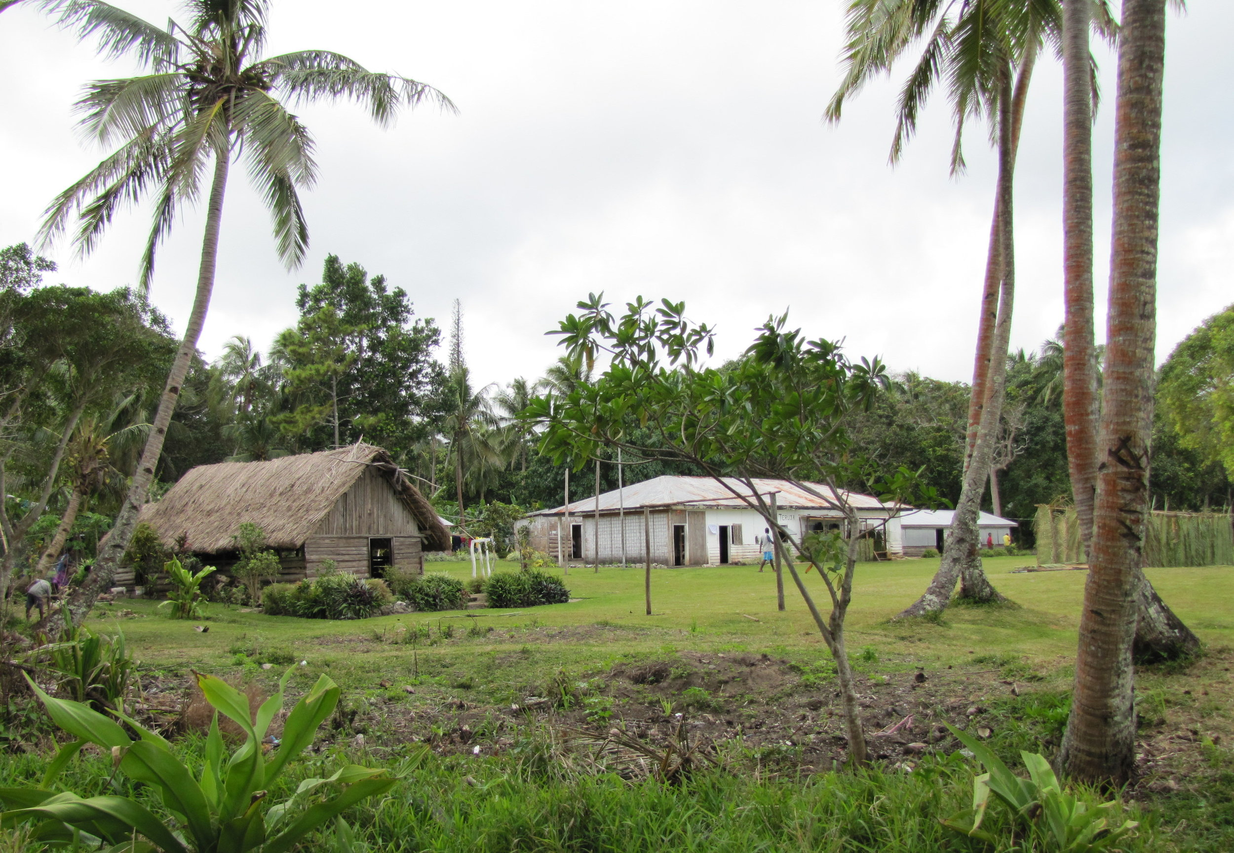 Village view ... there are no roads nor vehicles on Anatom Island, only well-worn, hard-packed dirt footpaths.