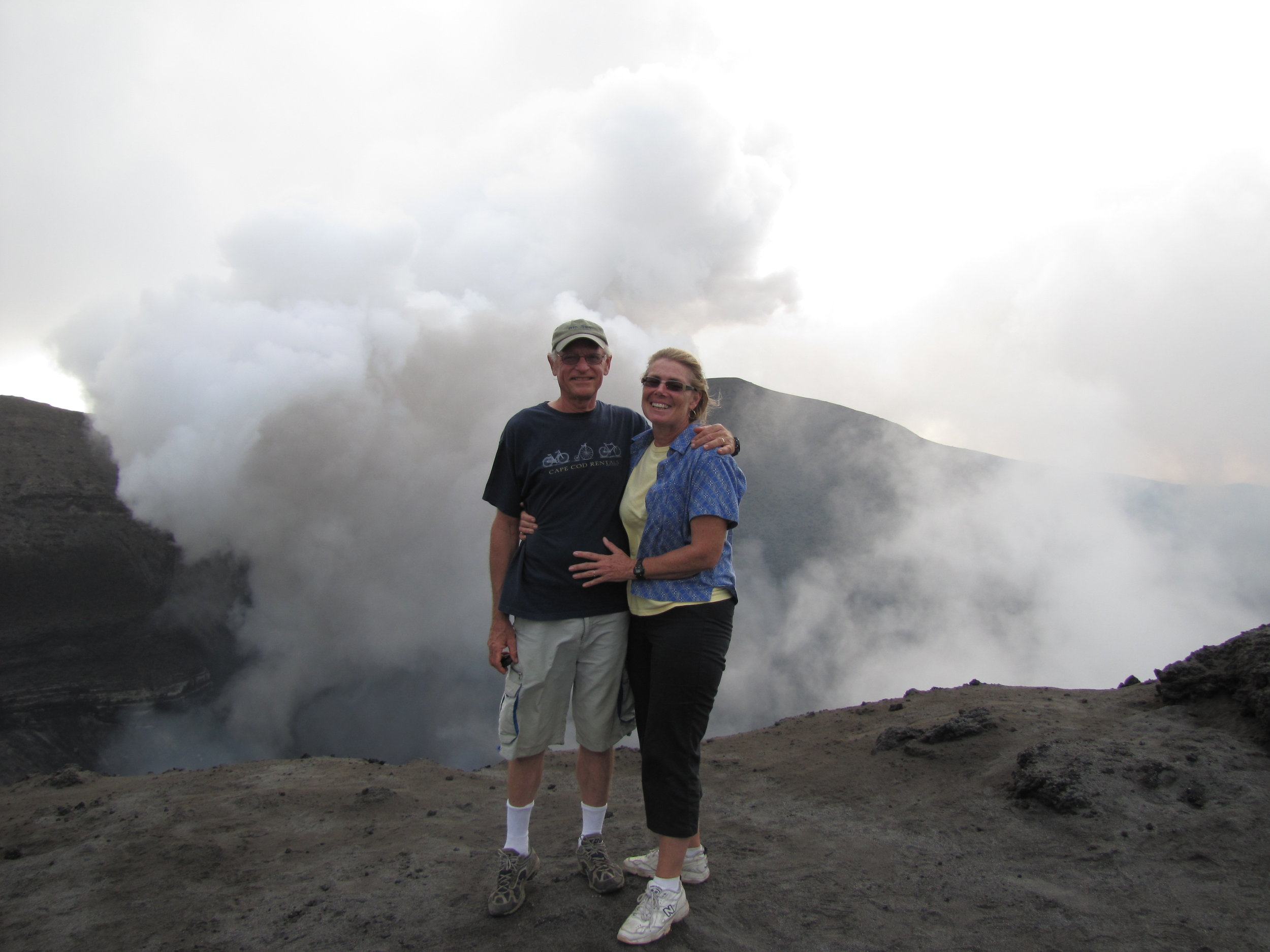 Standing on the edge of Yasur Volcano