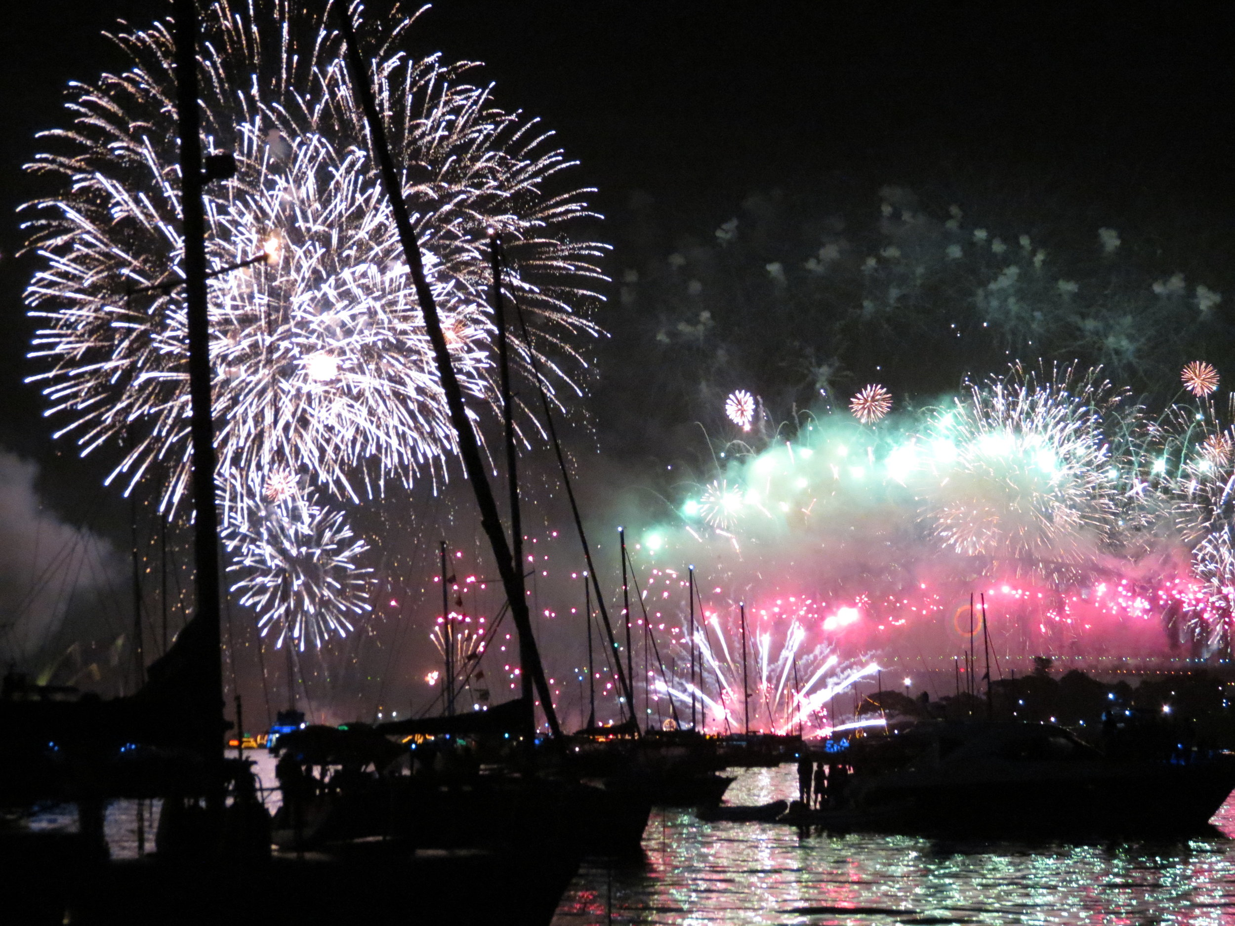 New Year's Eve 2011 - Anchored in Sydney Harbour