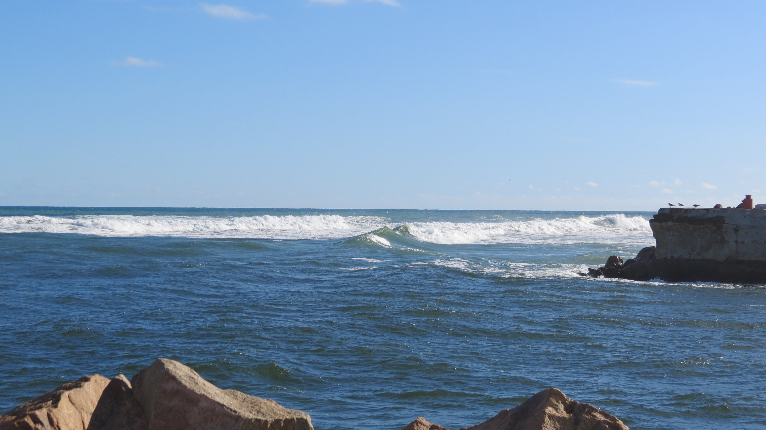 Leaving Lakes Entrance was an adrenaline rush ... yikes!