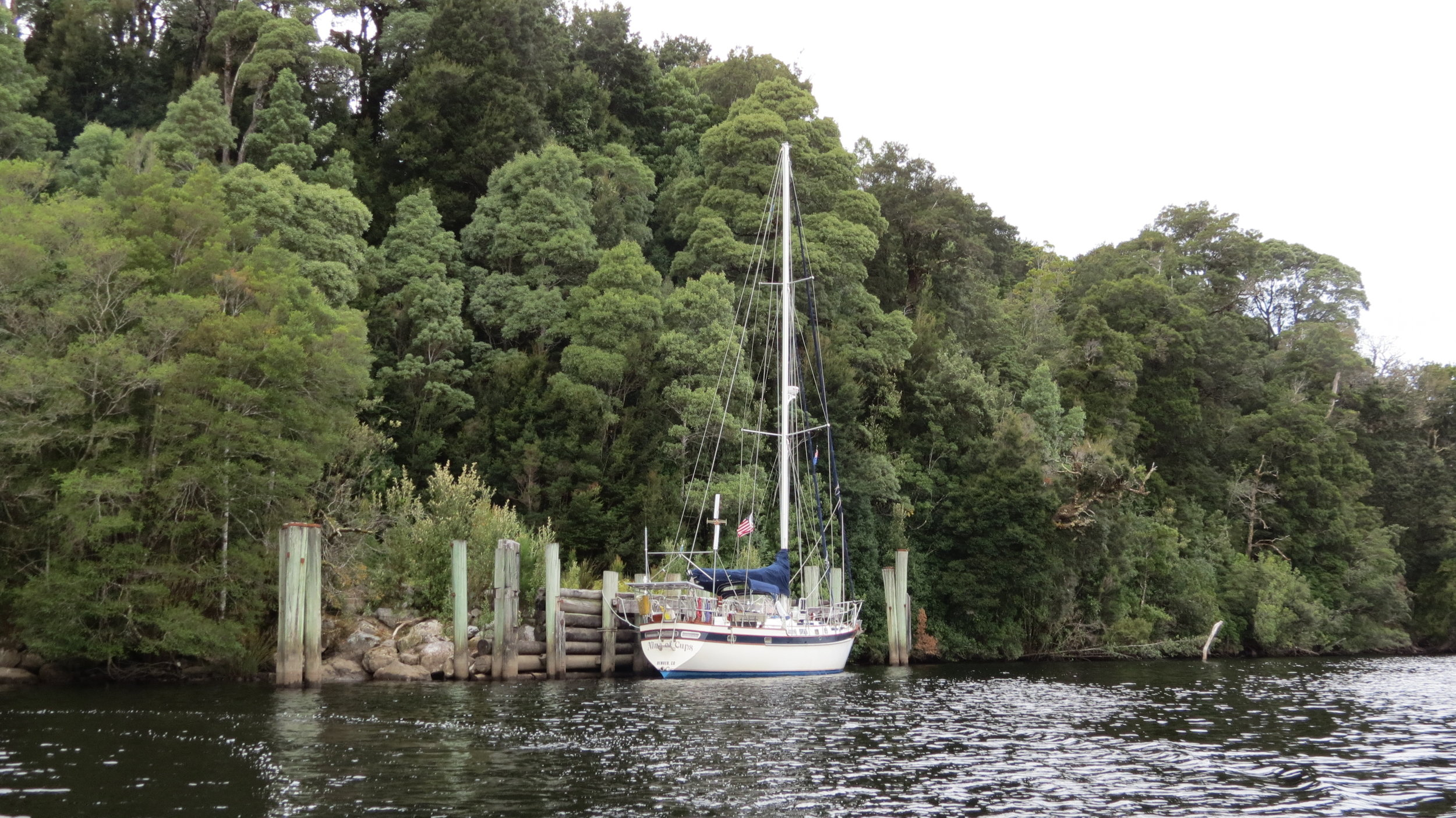 Moored up the Gordon River