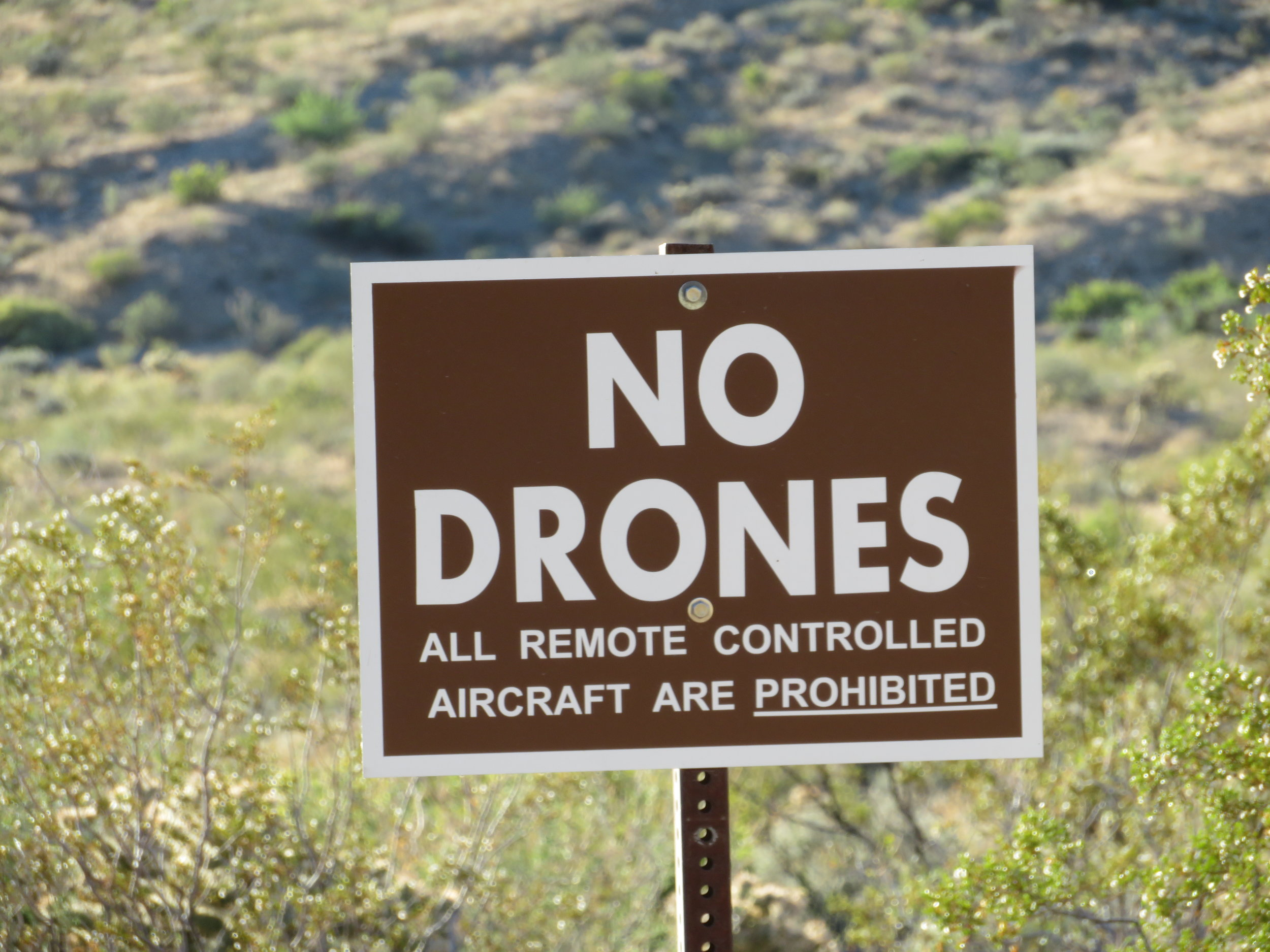 At Valley of Fire State Park in Nevada ... keep your drones to yourself.