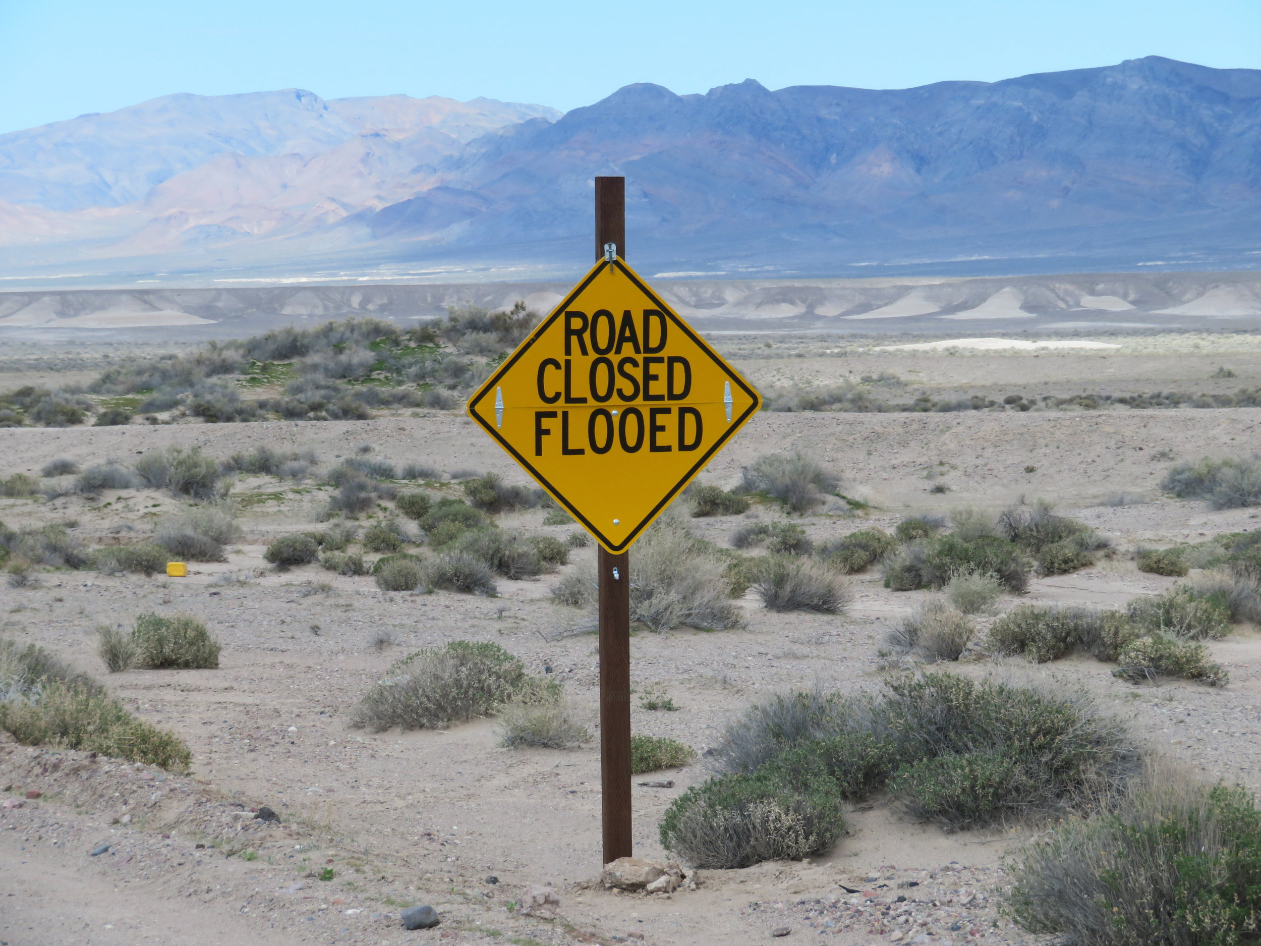 "Nothing worse than a road closure due to ""flooed""."