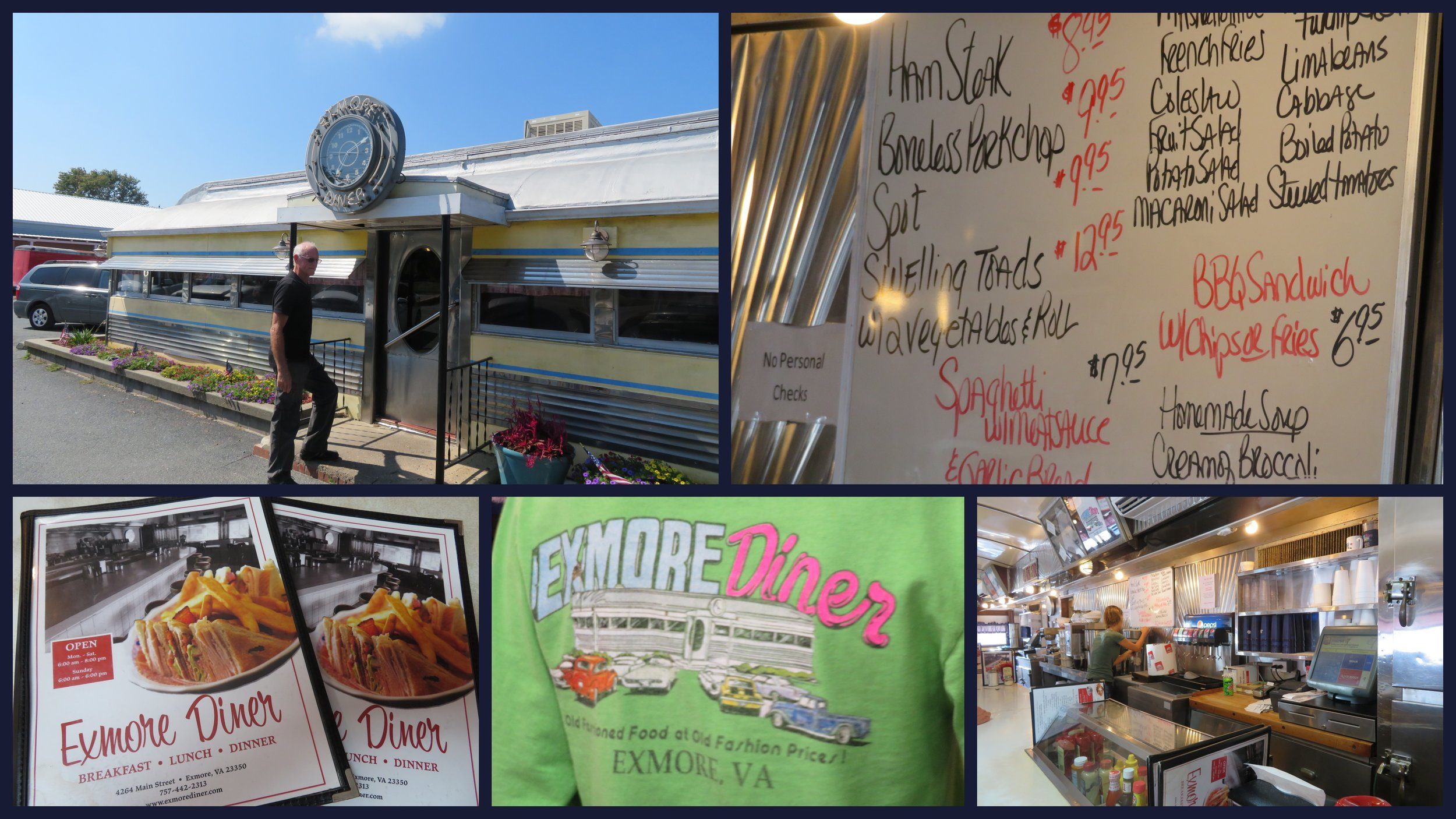 Lunch at the iconic Exmore Diner. What the heck are  swelling toads ???