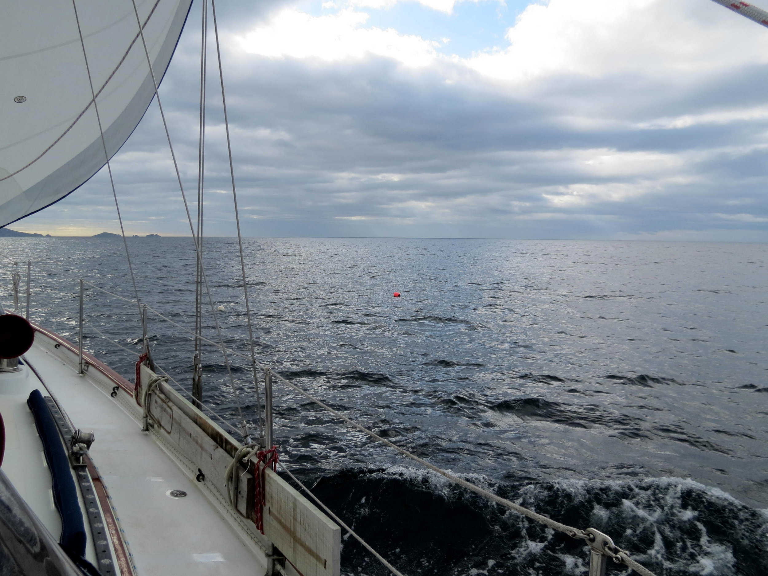 En route up the wild Tasmanian east coast