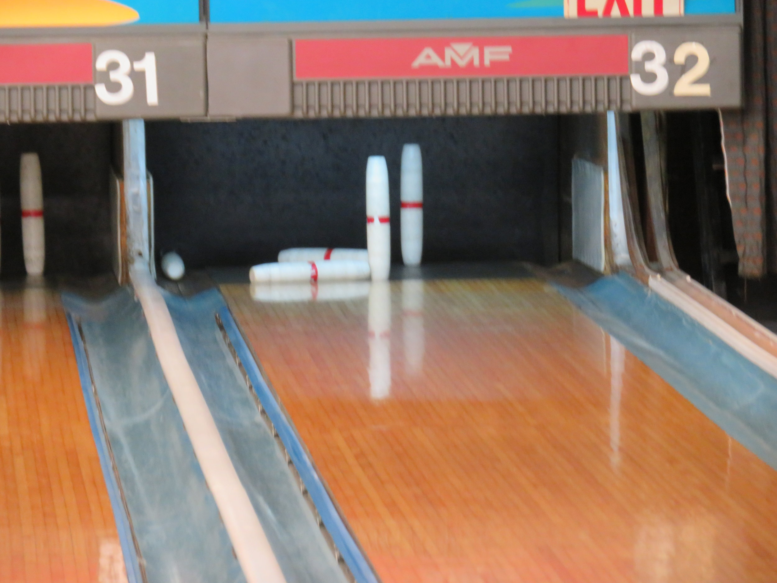 Possible spare ... or possible gutter ball?