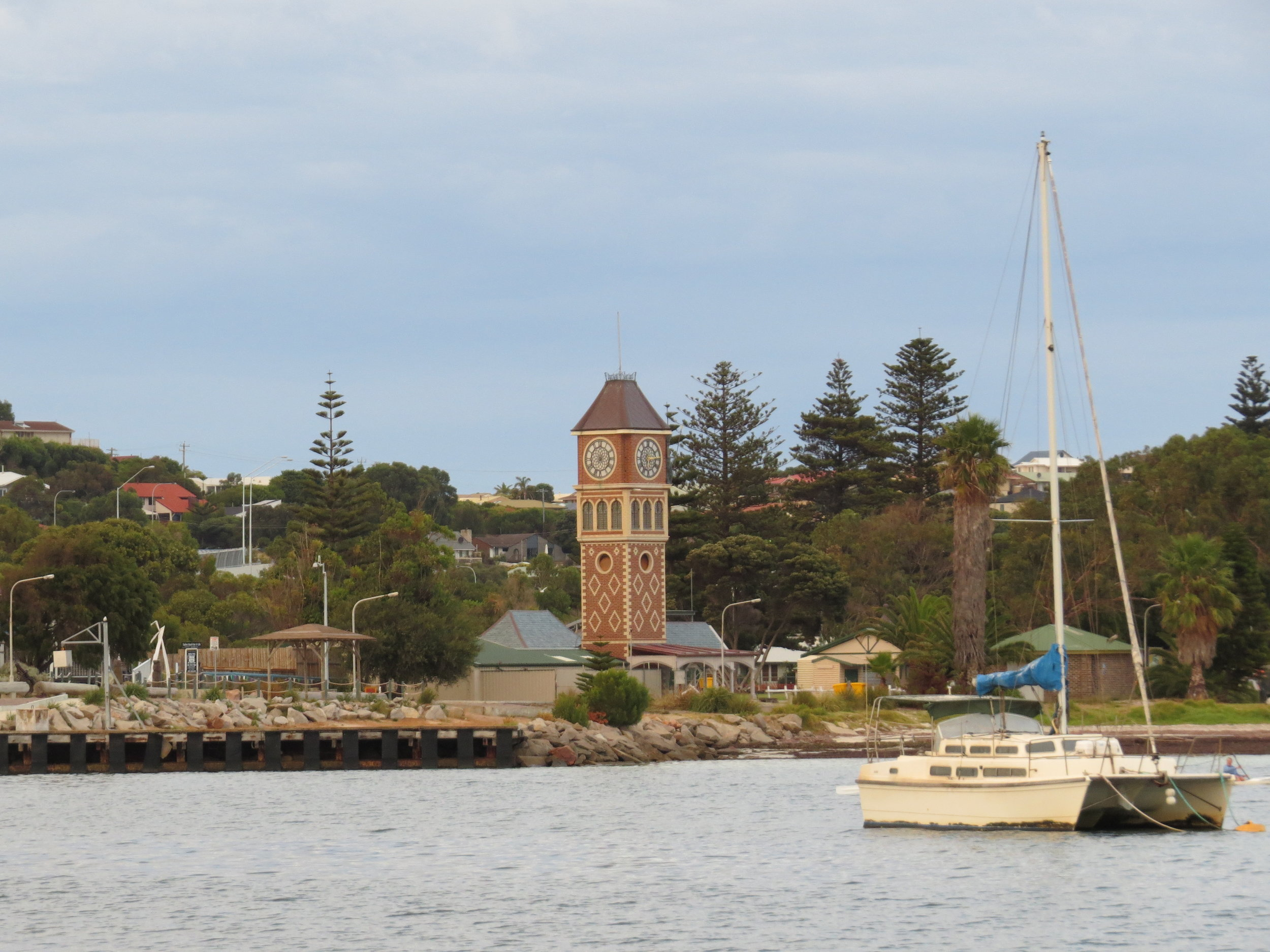 Esperance was a warm & welcoming town. Above, a view of the anchorage and town clock.